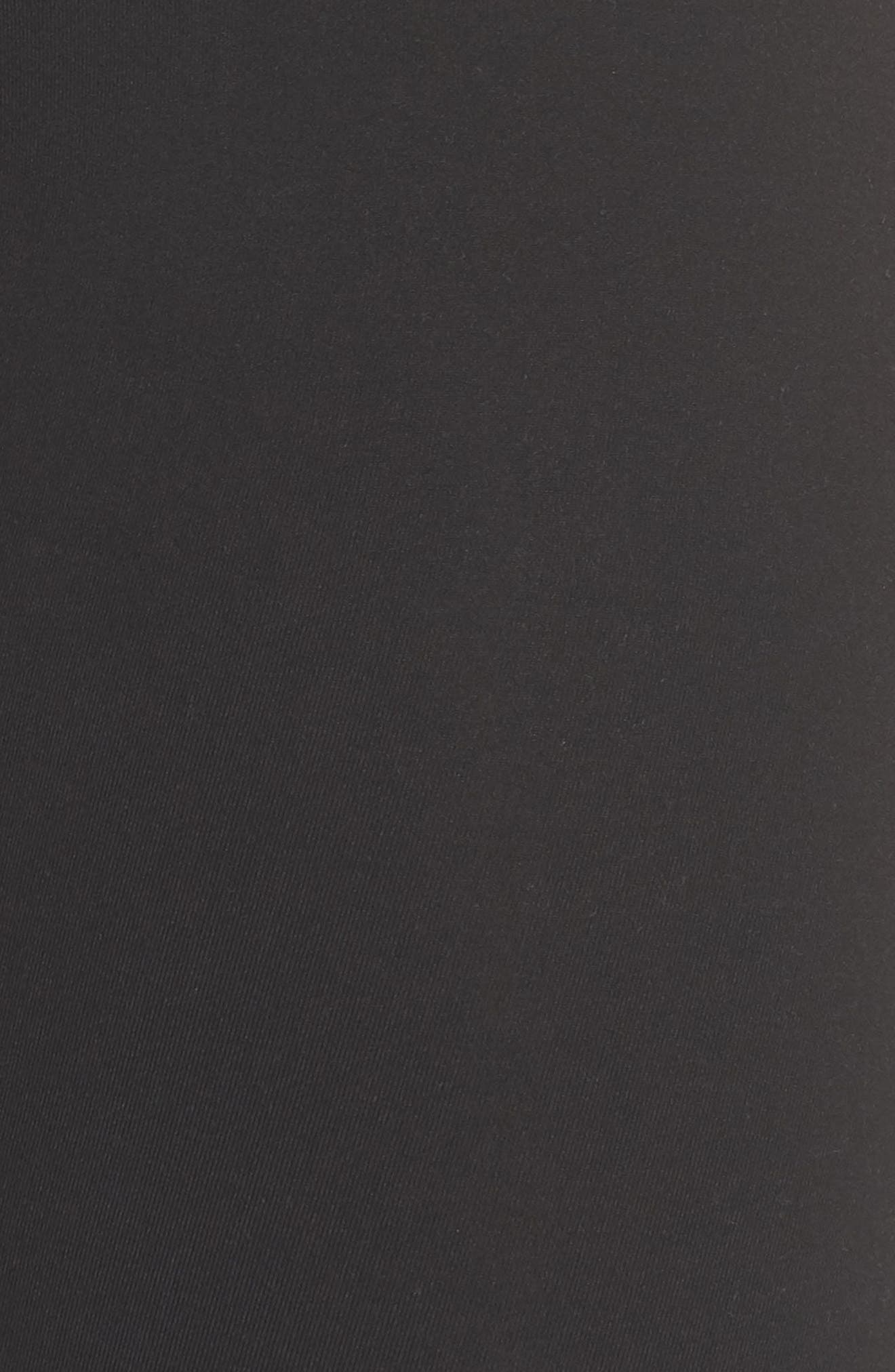 Meditate High Waist Crop Leggings,                             Alternate thumbnail 6, color,                             BLACK
