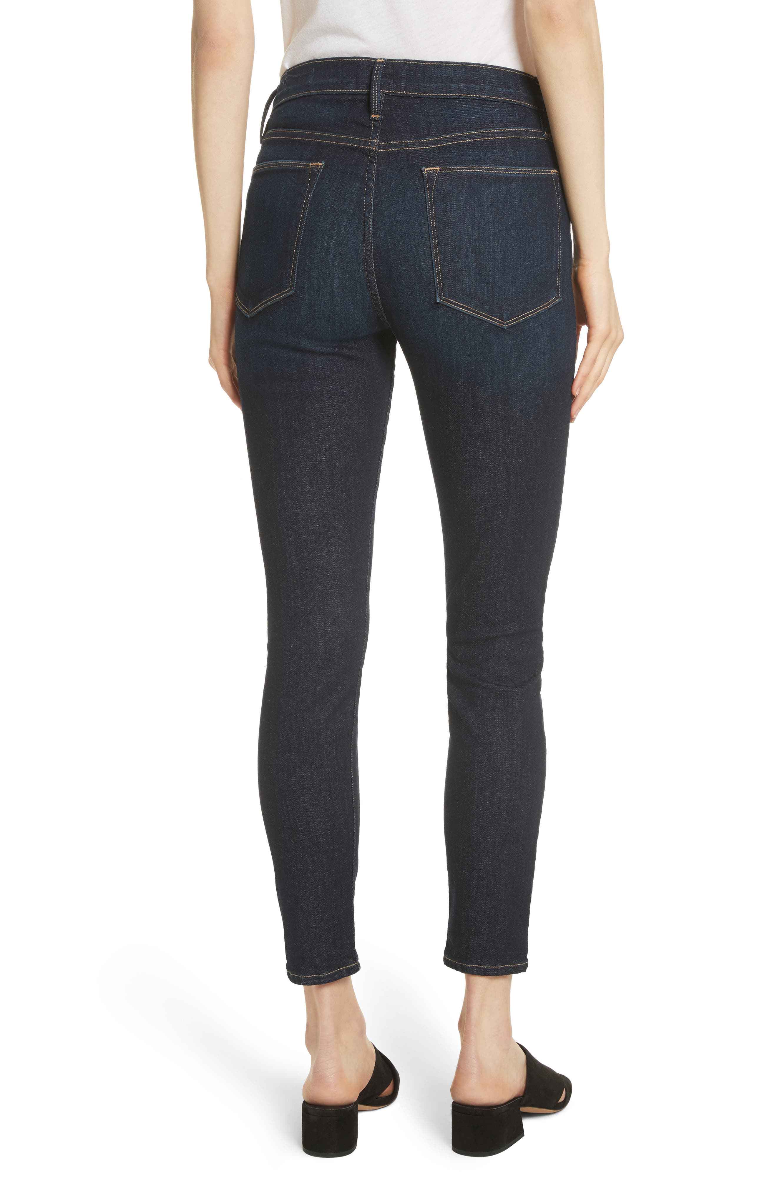 Le High Ankle Skinny Jeans,                             Alternate thumbnail 2, color,                             DAME