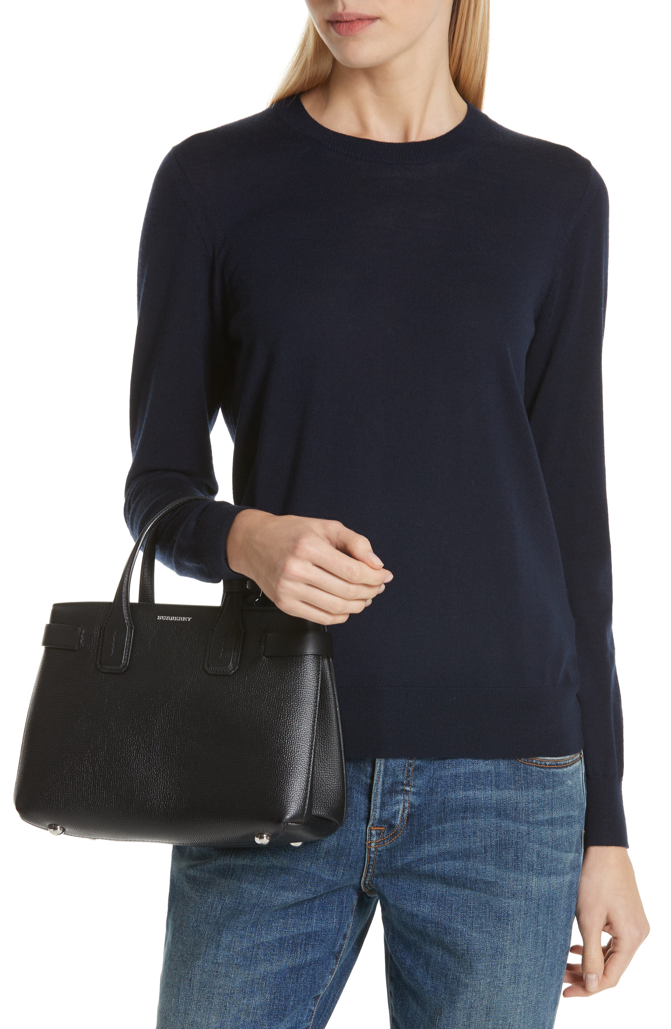 Small Banner Tote,                             Alternate thumbnail 2, color,                             BLACK