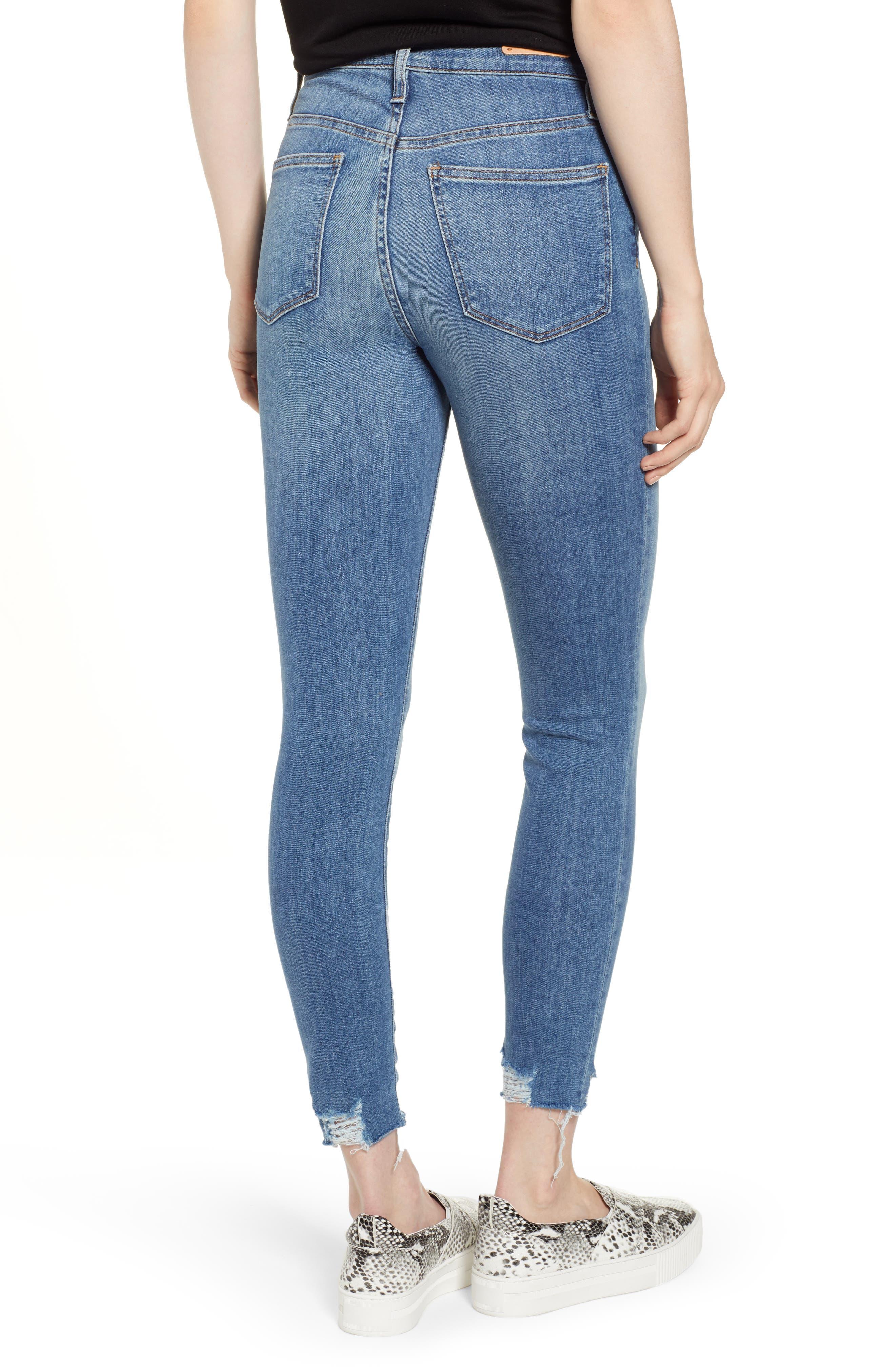 Sierra High Waist Raw Hem Skinny Jeans,                             Alternate thumbnail 2, color,                             NORIKO