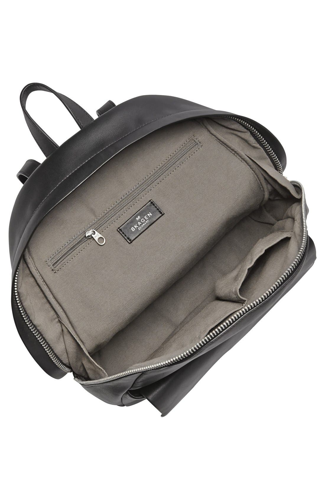 'Aften' Leather Backpack,                             Alternate thumbnail 2, color,                             001