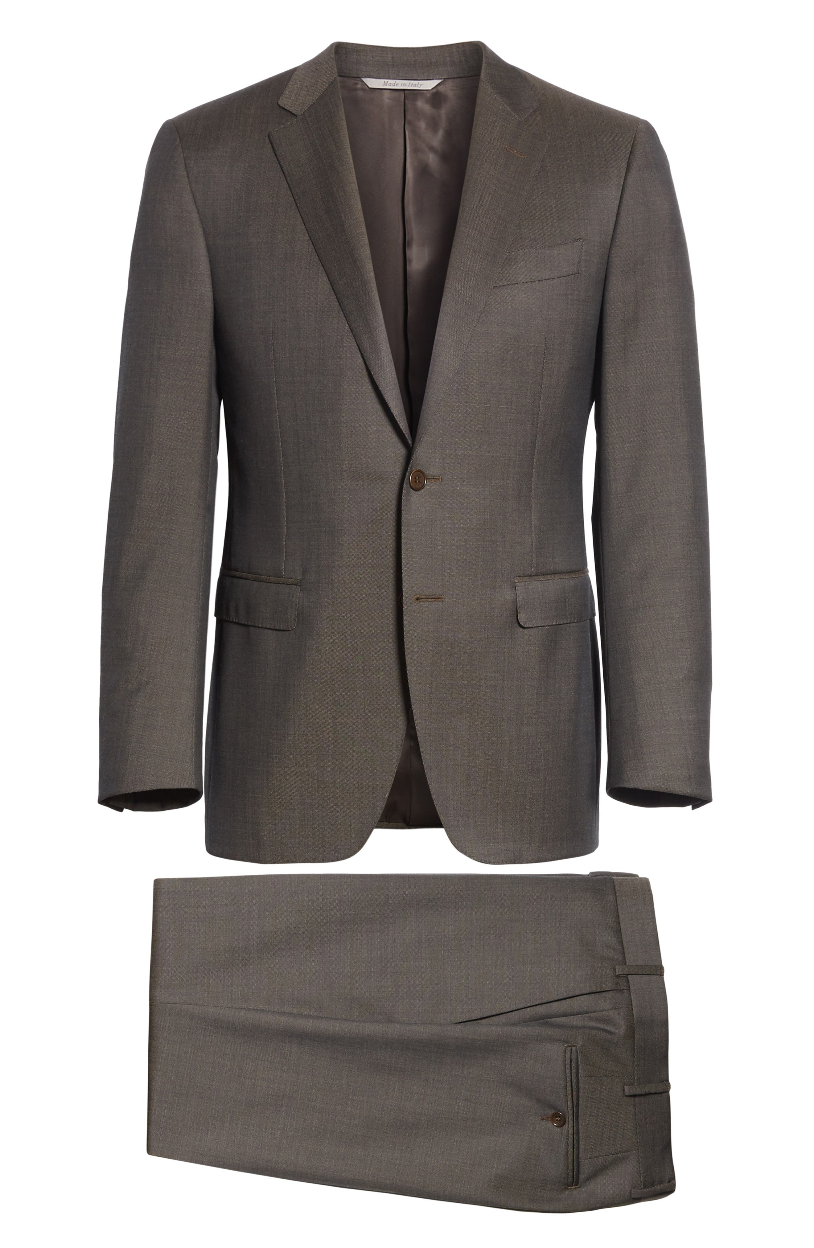 Classic Fit Solid Wool Suit,                             Alternate thumbnail 8, color,                             020