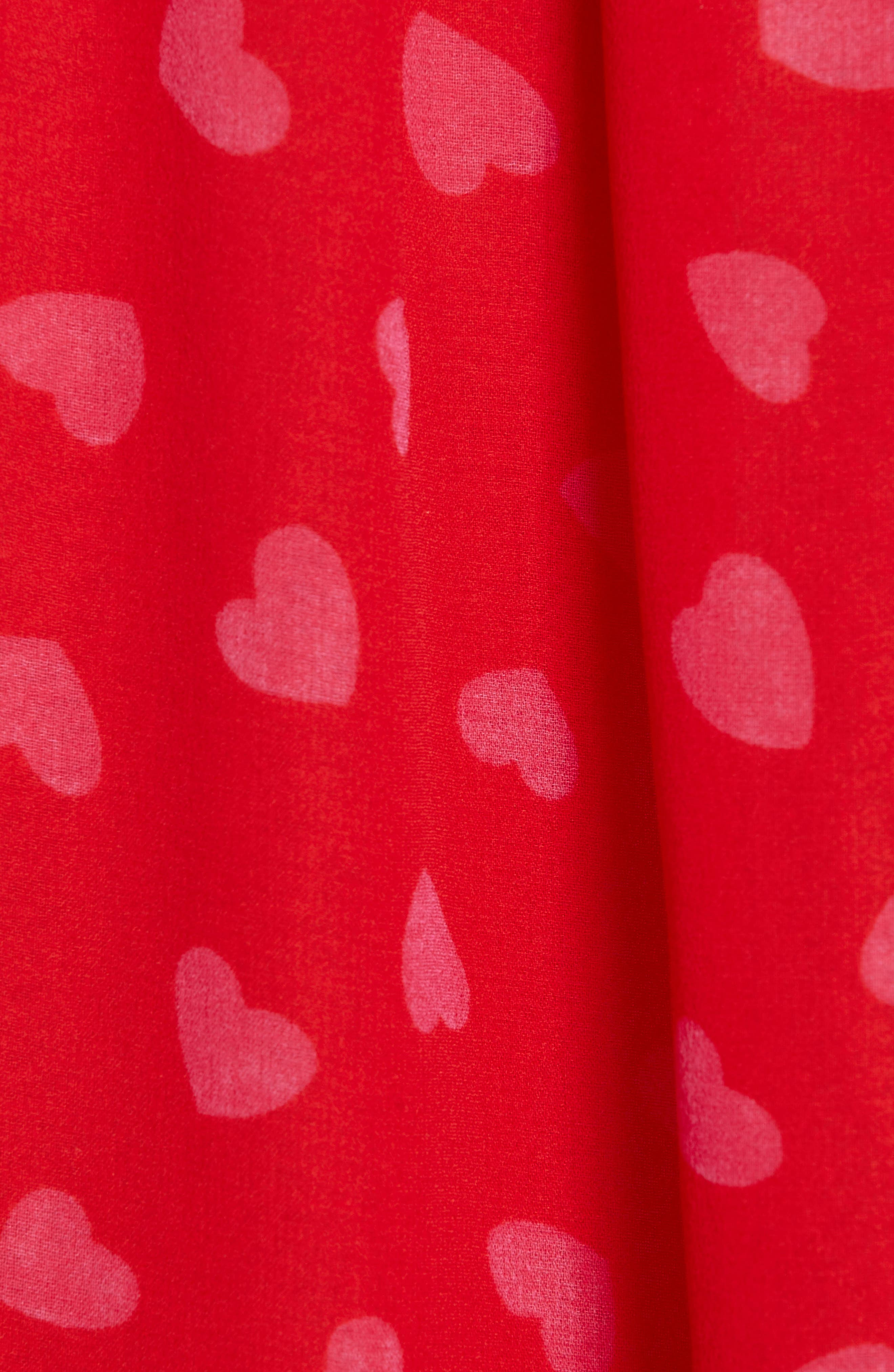 heartbeat silk top,                             Alternate thumbnail 5, color,                             ENGINE RED
