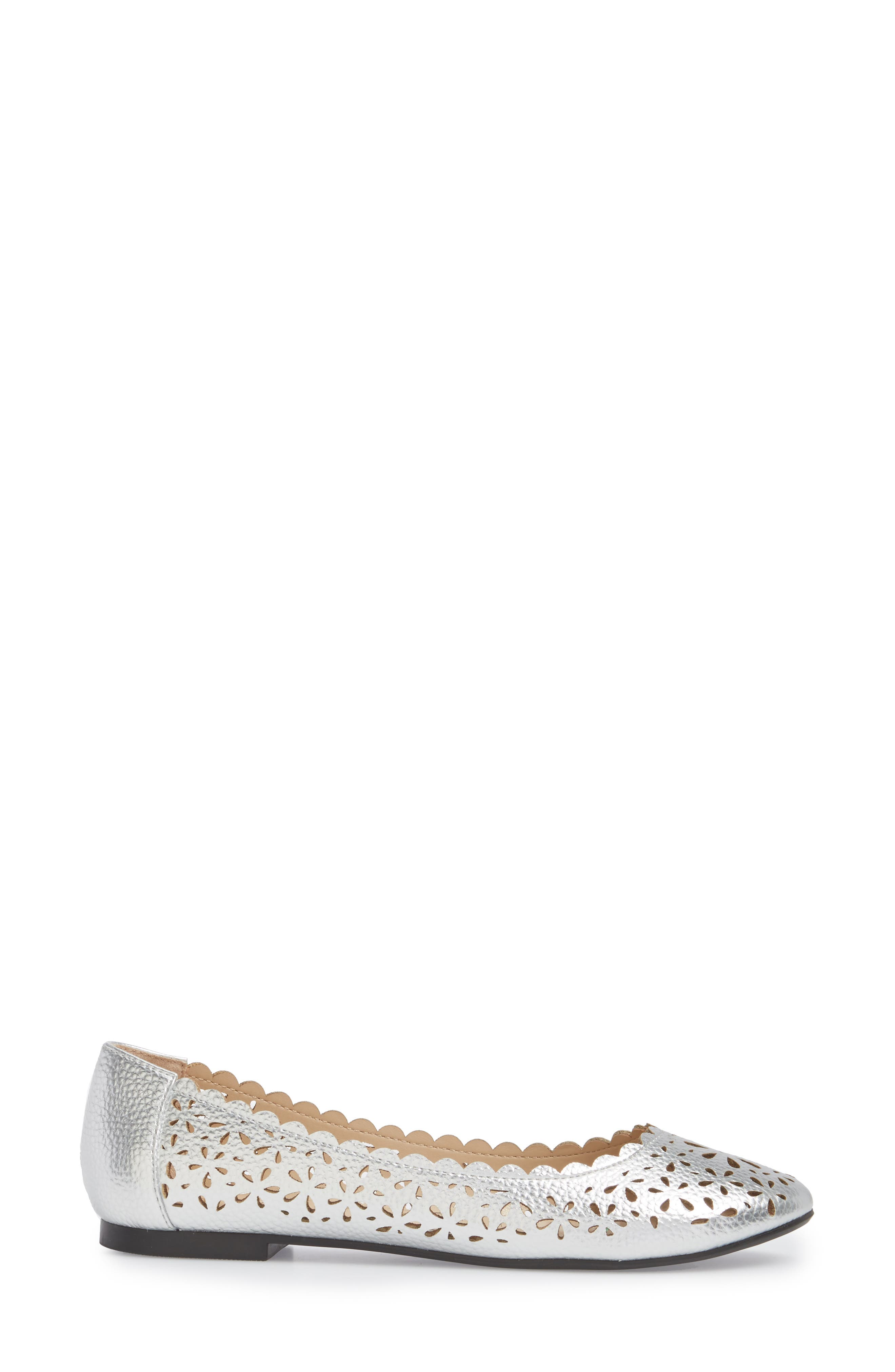 Annora Perforated Flat,                             Alternate thumbnail 8, color,