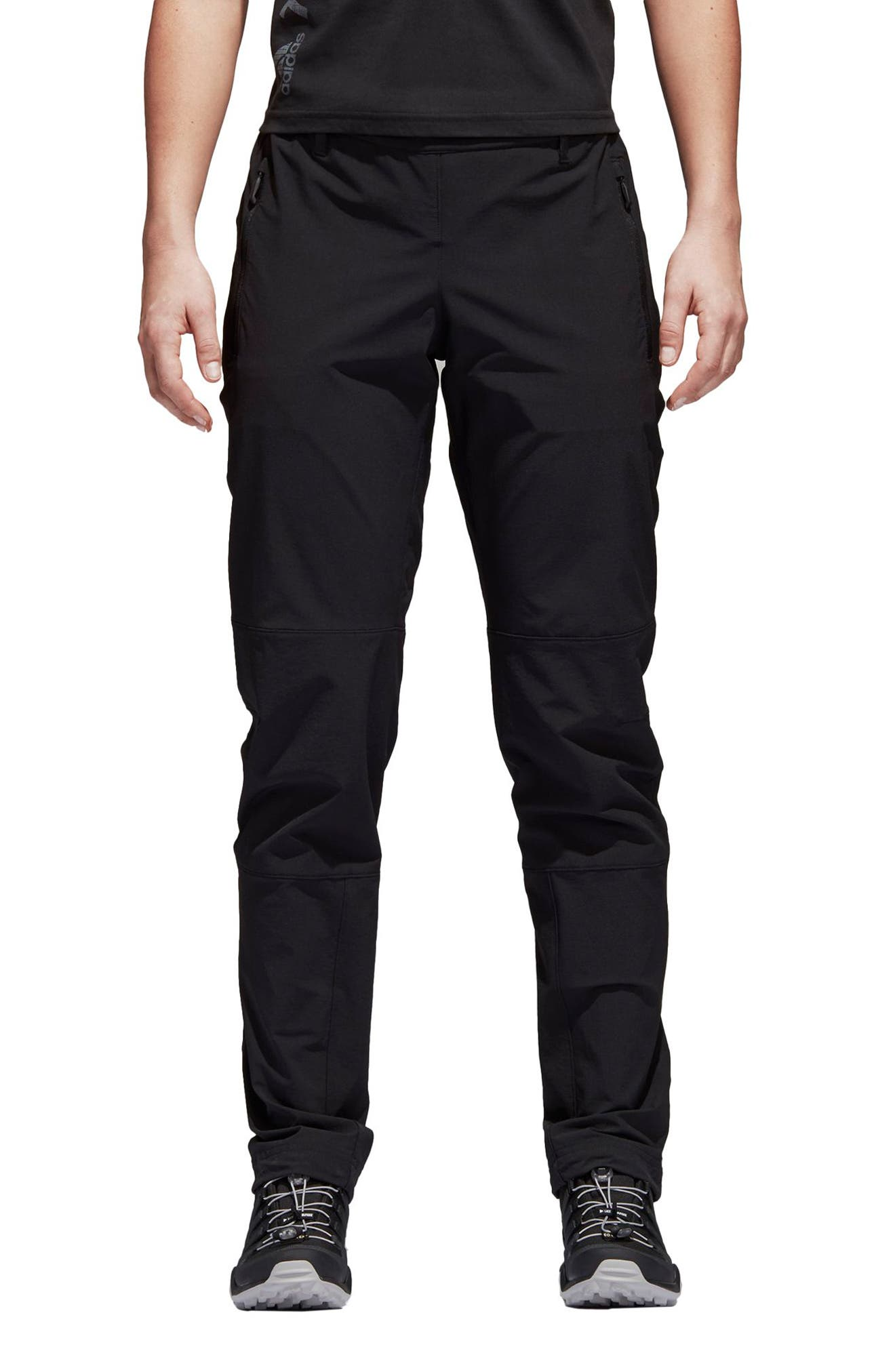 Water-Repellent Pants,                             Main thumbnail 1, color,                             BLACK