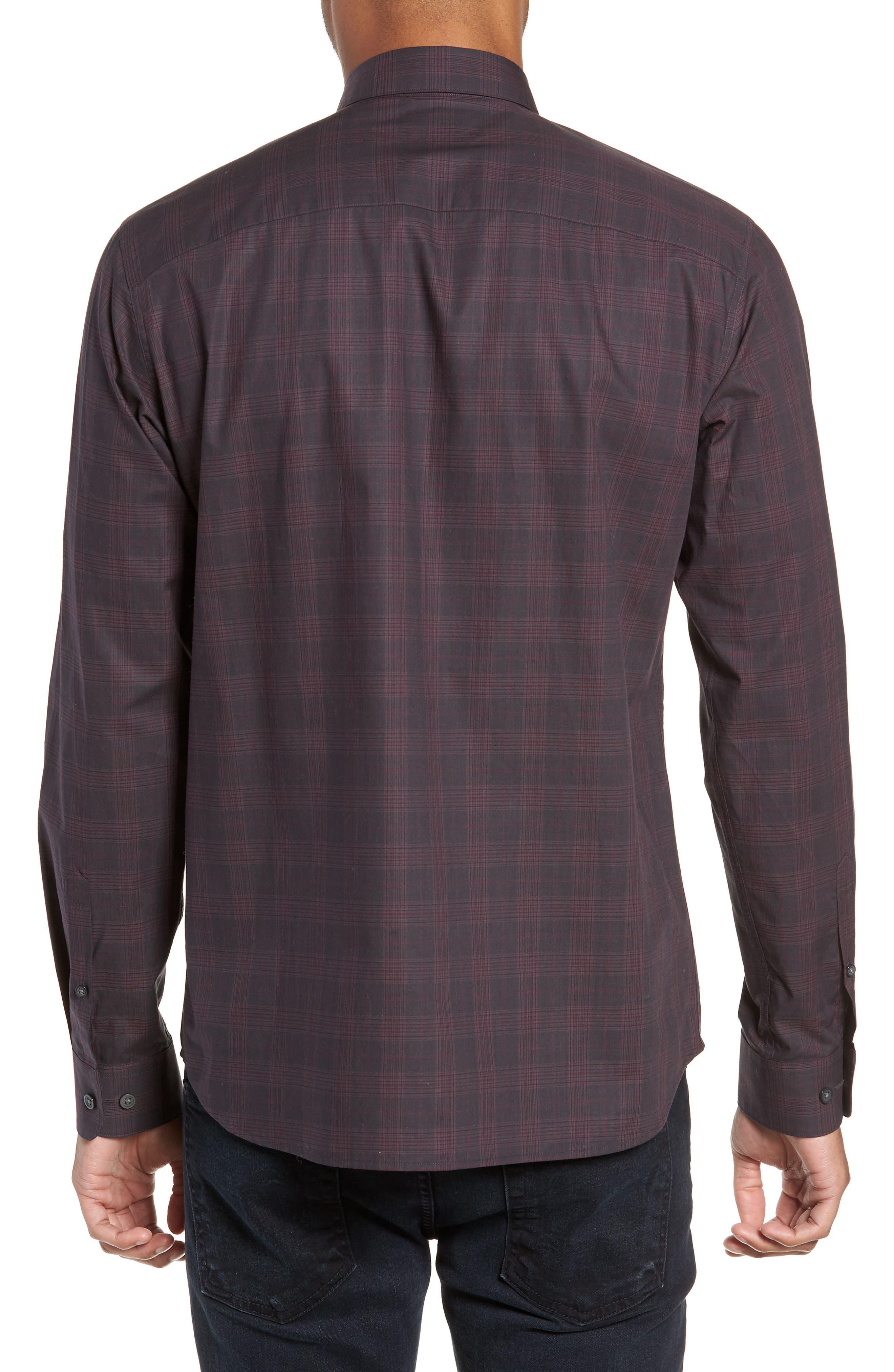Regaron Regular Fit Check Sport Shirt,                             Alternate thumbnail 3, color,                             GREY
