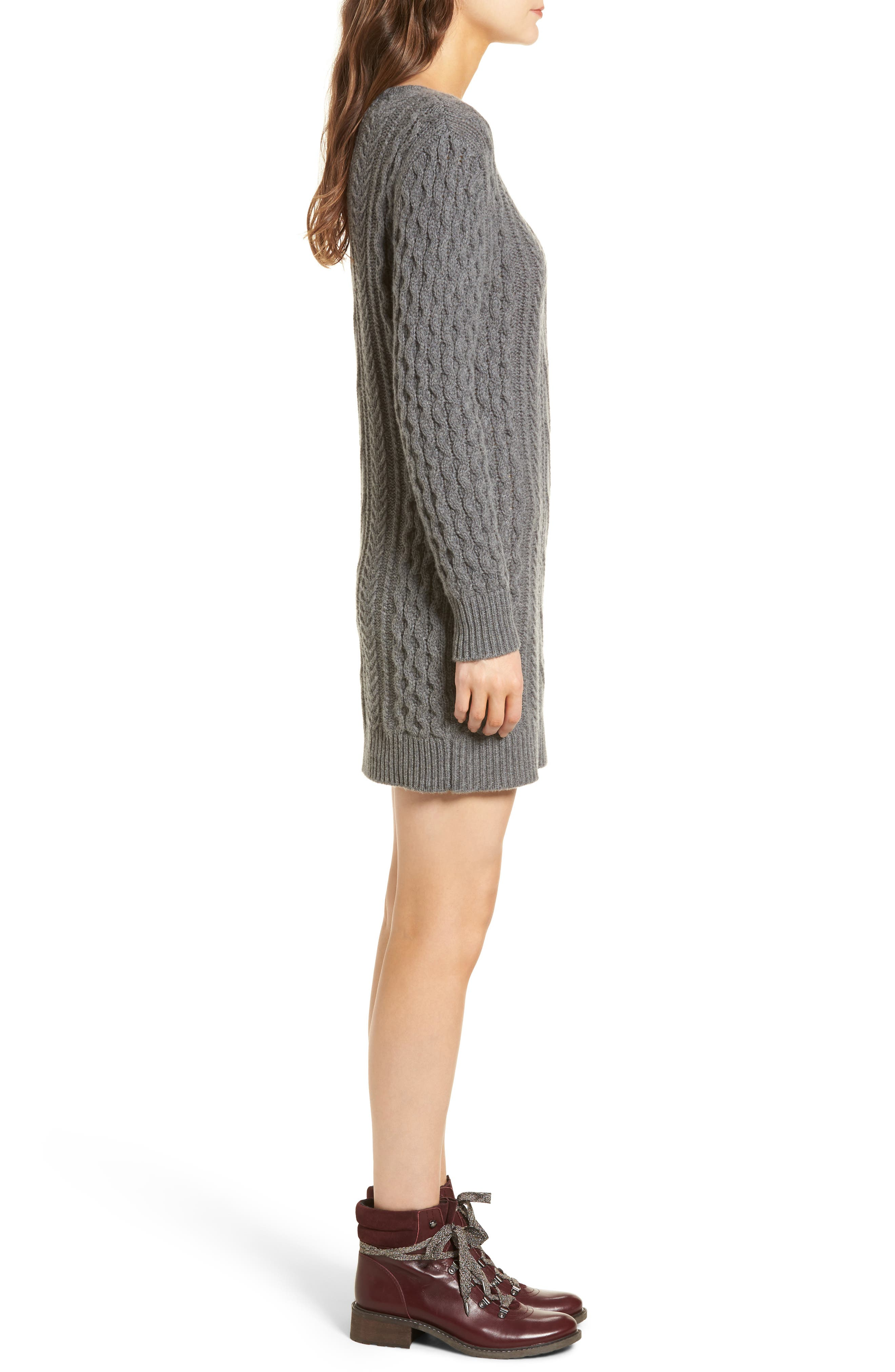 Jesse Sweater Minidress,                             Alternate thumbnail 3, color,                             020