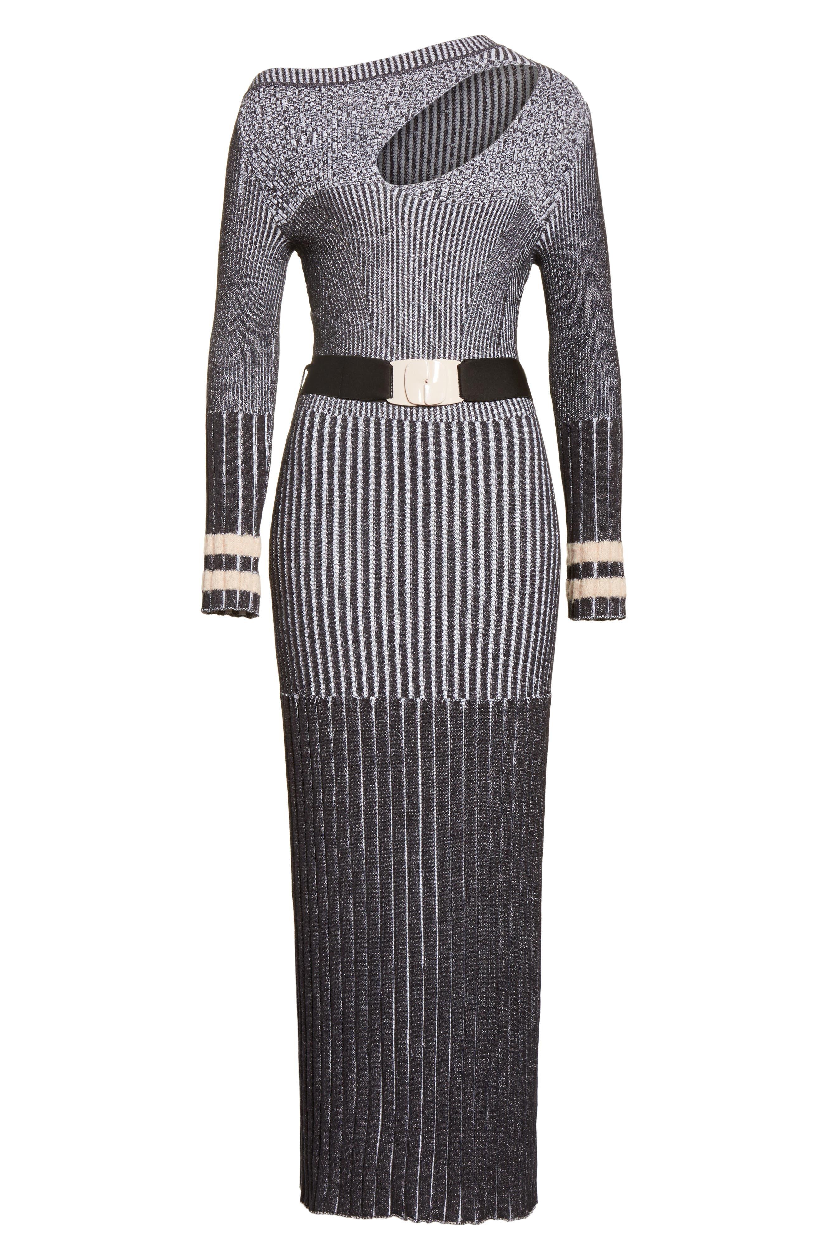 Urge Maxi Sweater Dress,                             Alternate thumbnail 7, color,                             001