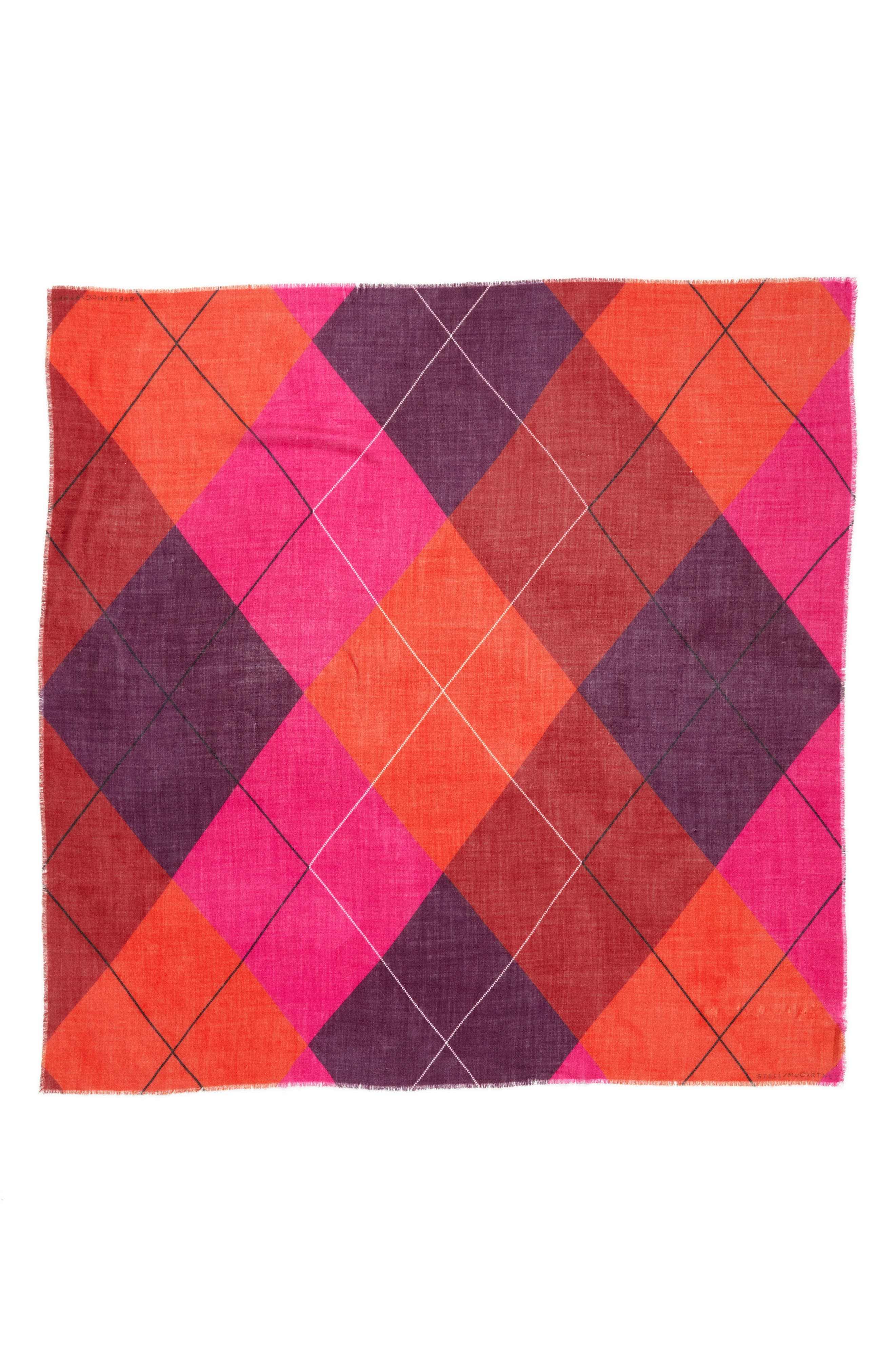 Argyle Scarf,                             Alternate thumbnail 3, color,                             650
