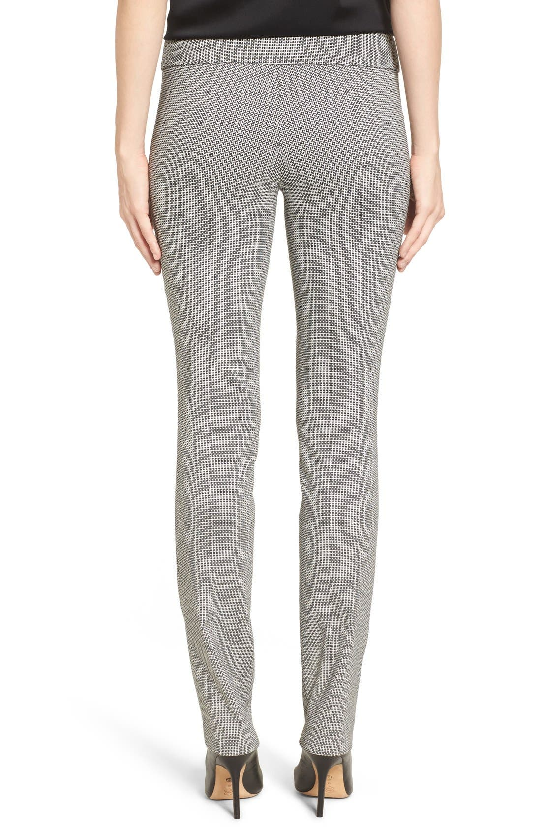 Pixelated Slim Ponte Pants,                             Alternate thumbnail 3, color,                             090