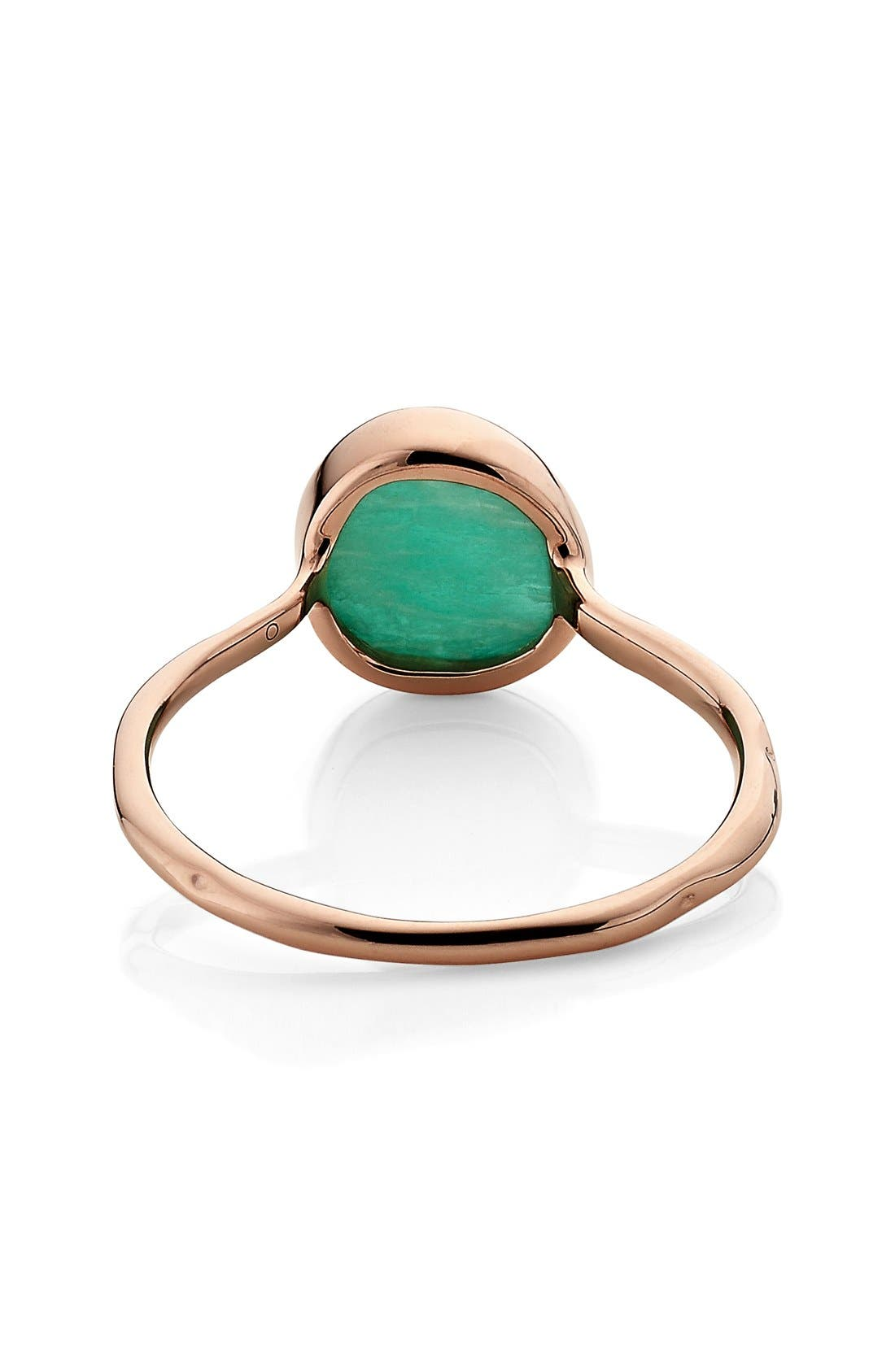 Siren Semiprecious Stone Stacking Ring,                             Alternate thumbnail 4, color,                             ROSE GOLD/ AMAZONITE