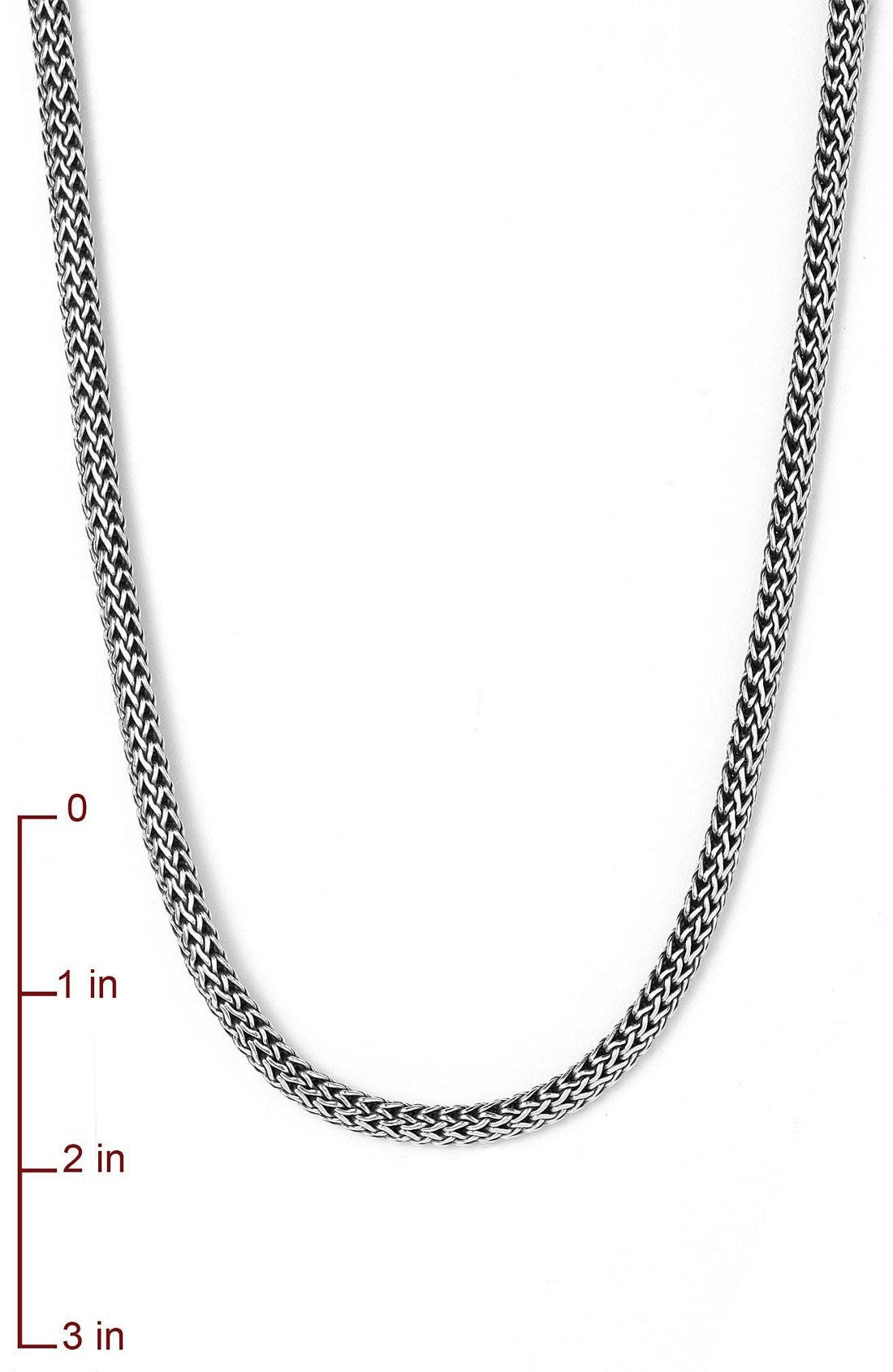 Extra-Small Chain Necklace,                             Alternate thumbnail 4, color,                             SILVER