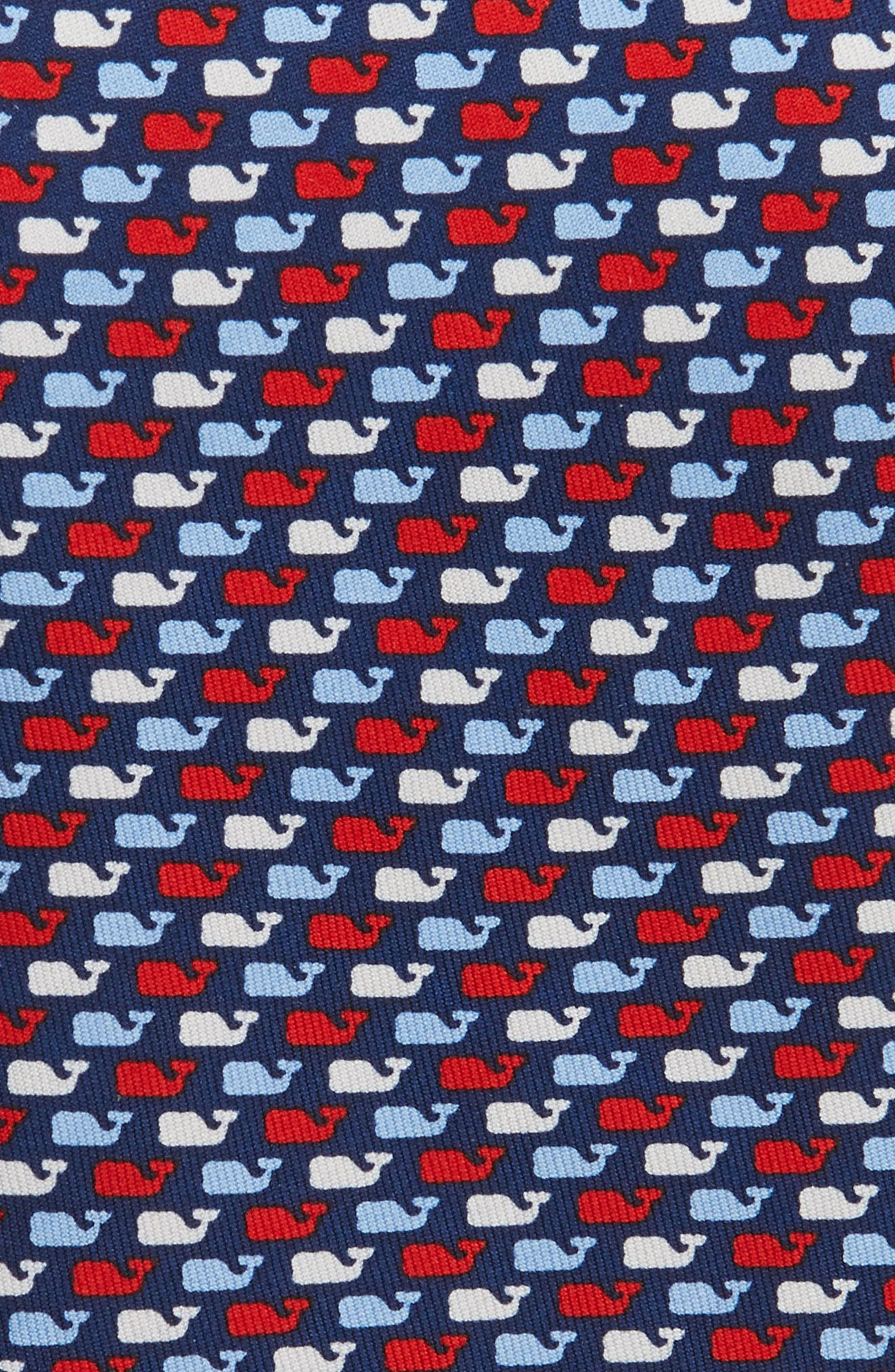 Red, White & Whale Silk Tie,                             Alternate thumbnail 2, color,