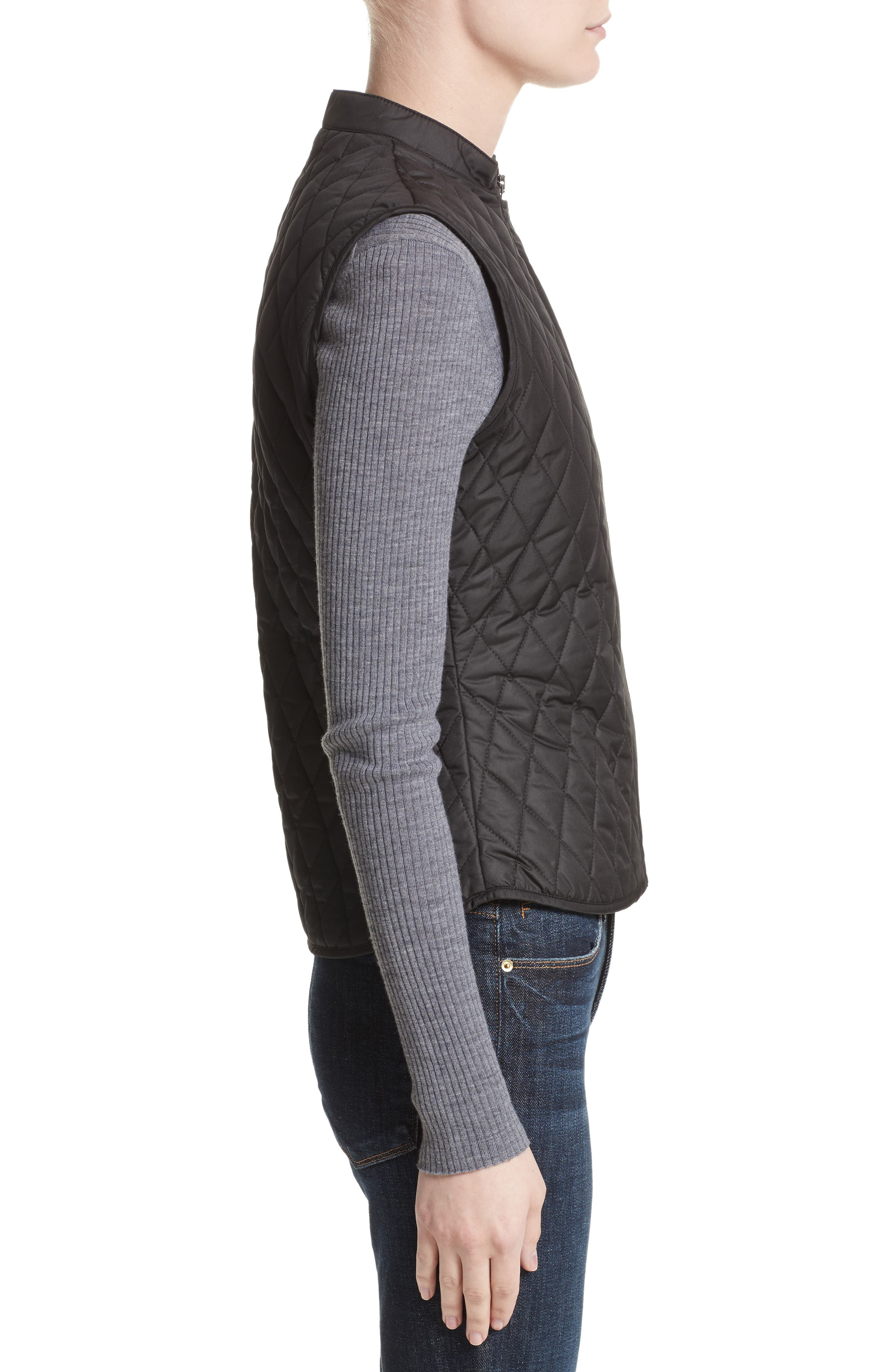 Westwell Technical Quilted Vest,                             Alternate thumbnail 3, color,                             001