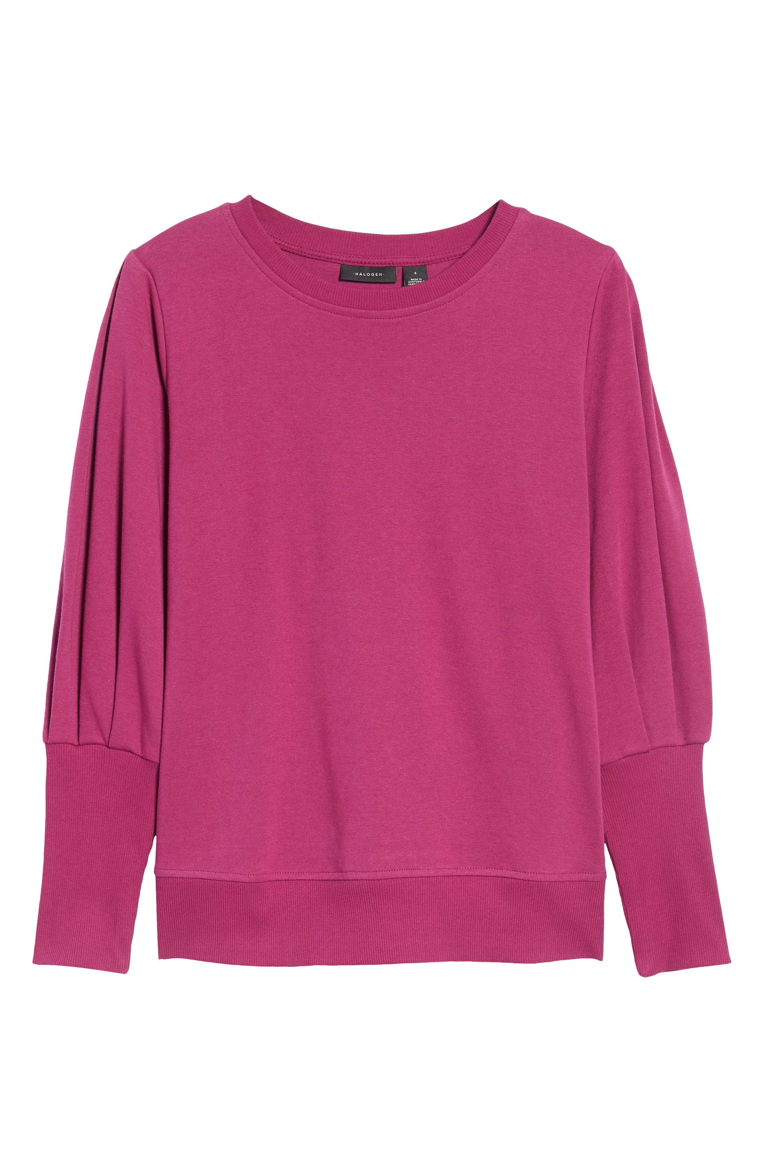 Blouson Sleeve Sweatshirt,                             Alternate thumbnail 30, color,