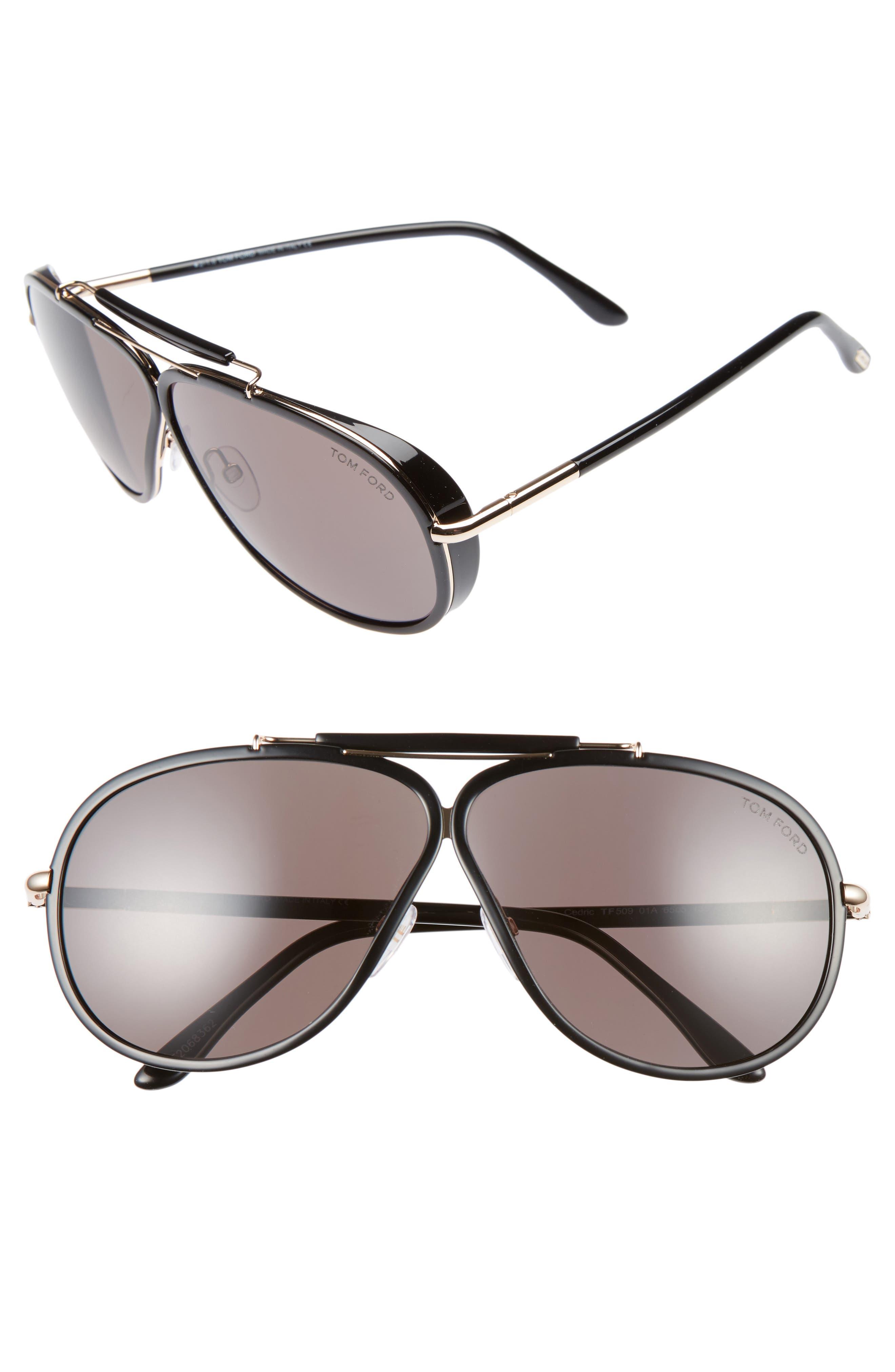 Cedric 65mm Aviator Sunglasses, Main, color, 710
