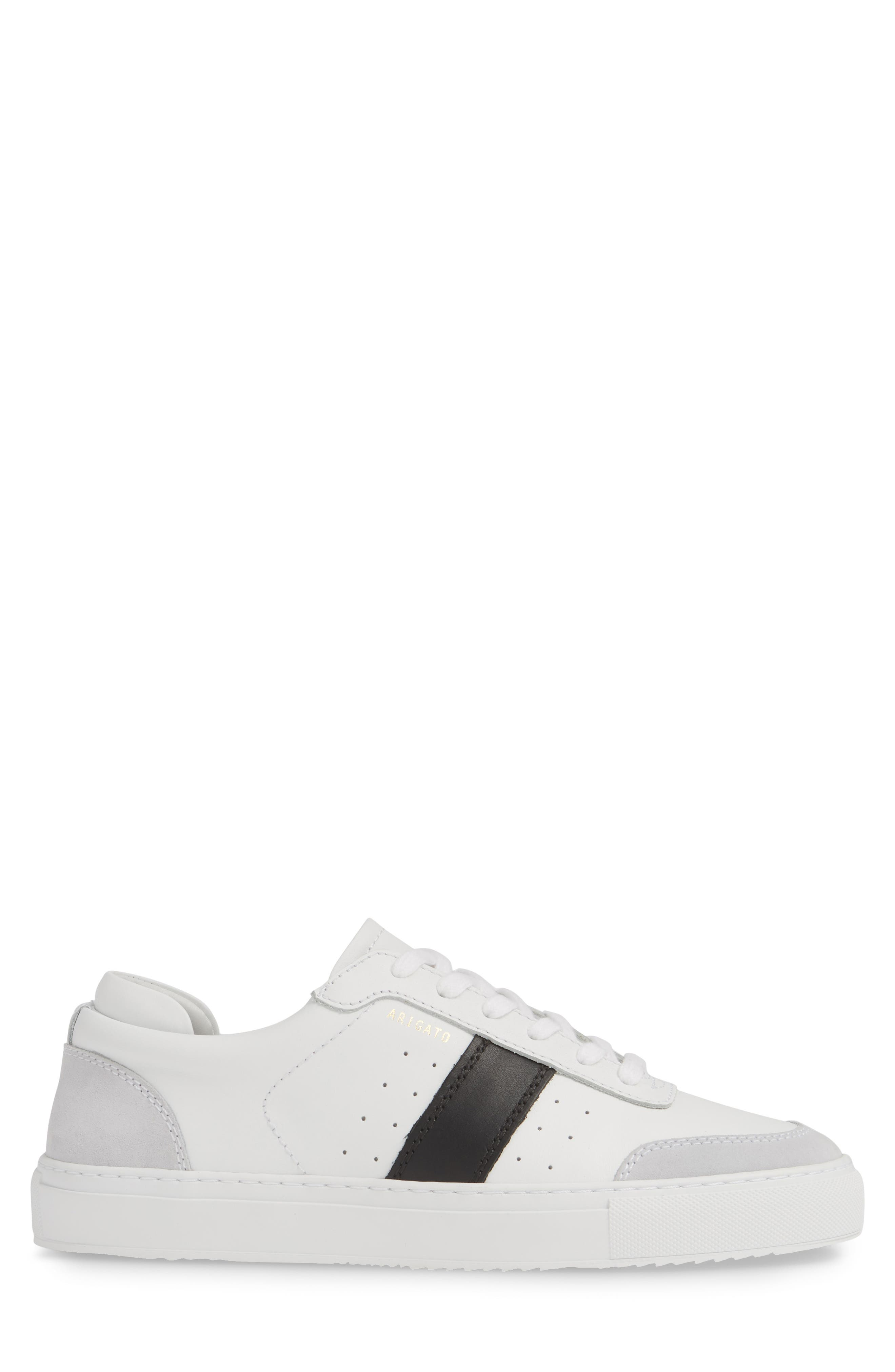 AXEL ARIGATO,                             Dunk Sneaker,                             Alternate thumbnail 3, color,                             WHITE W/ BLACK STRIPE