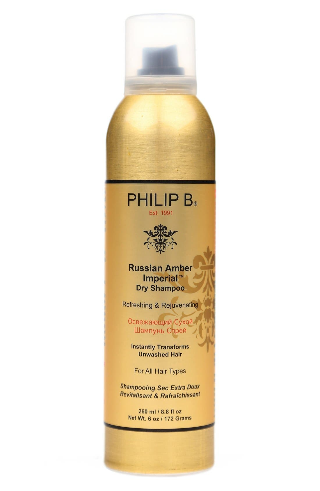 SPACE.NK.apothecary PHILIP B<sup>®</sup> Russian Amber Imperial<sup>™</sup> Dry Shampoo,                             Main thumbnail 1, color,                             000