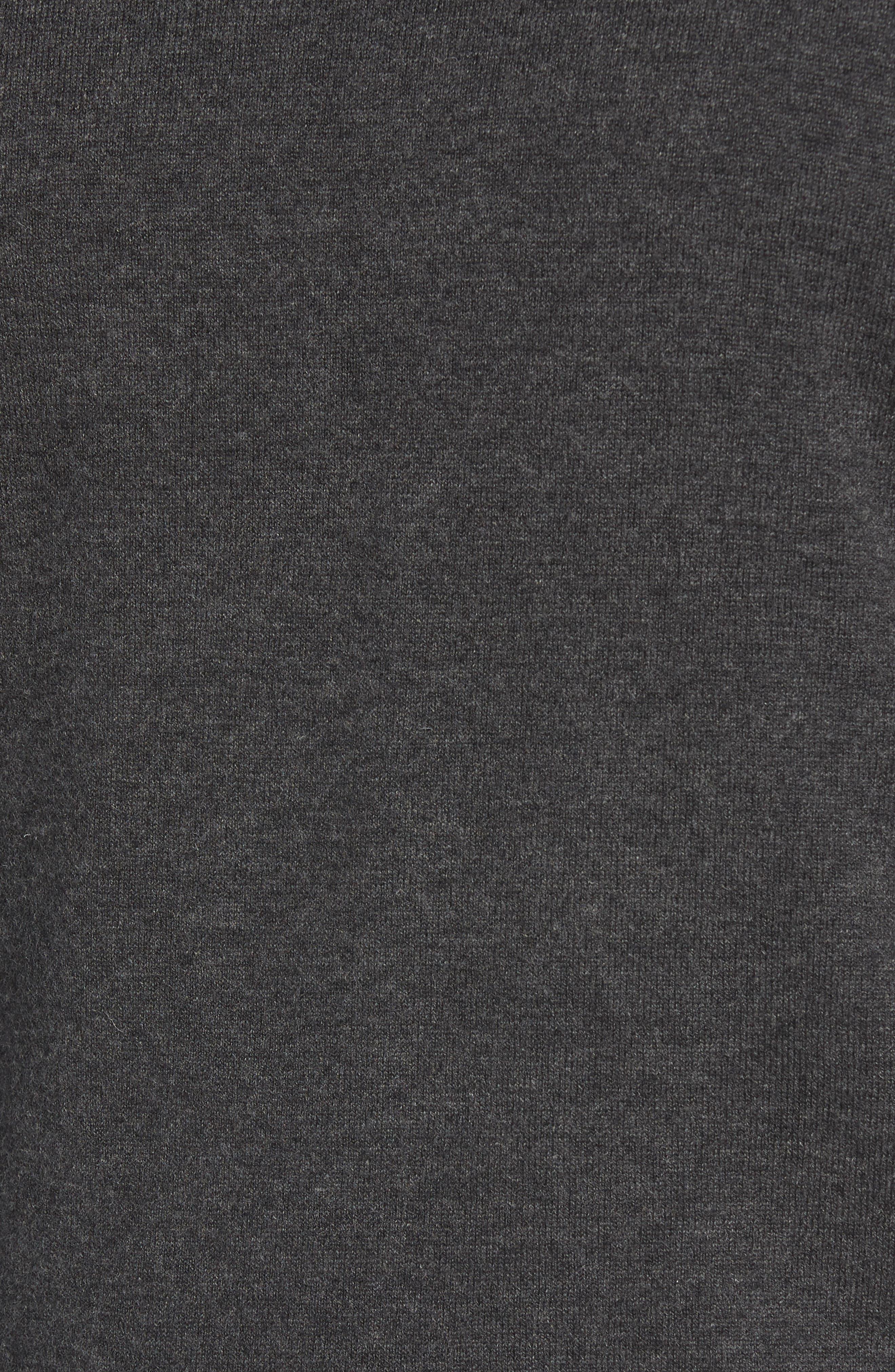Wool & Cotton Crewneck Sweater,                             Alternate thumbnail 5, color,                             022