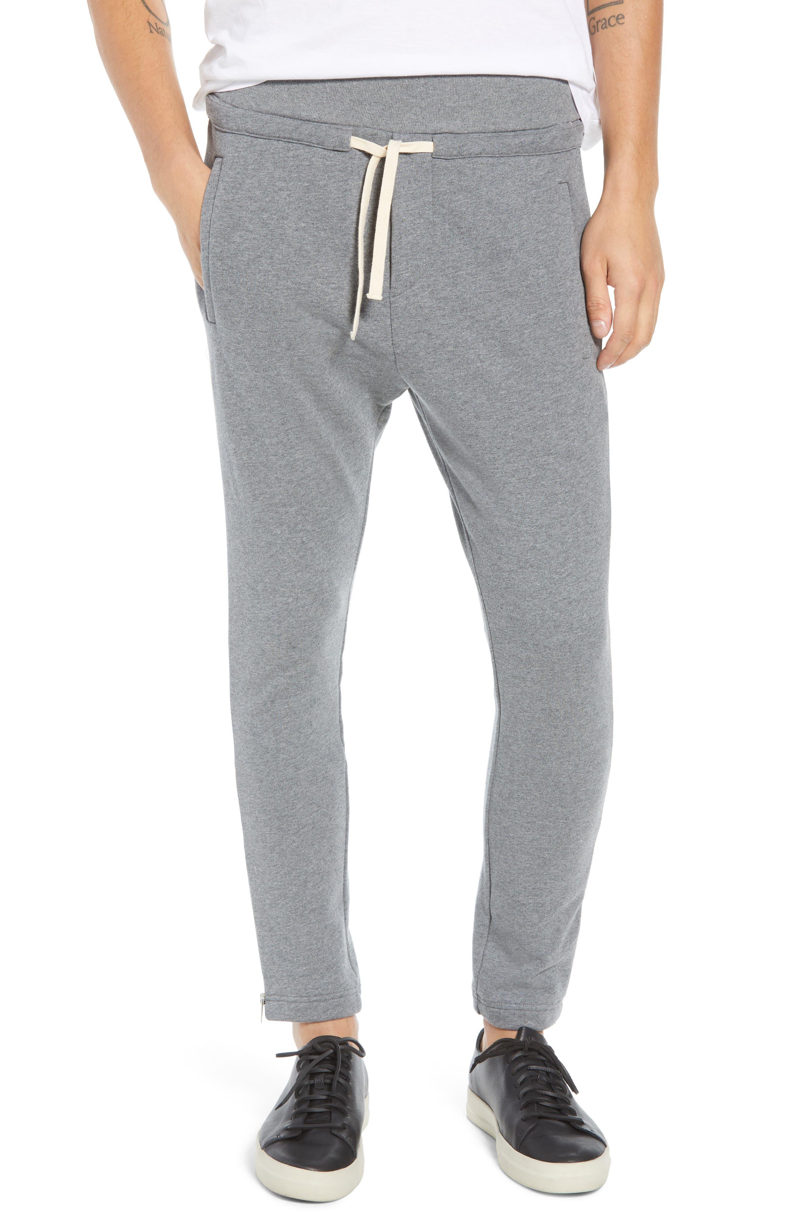THE KOOPLES Fleece Slim Fit Sweatpants in Grey