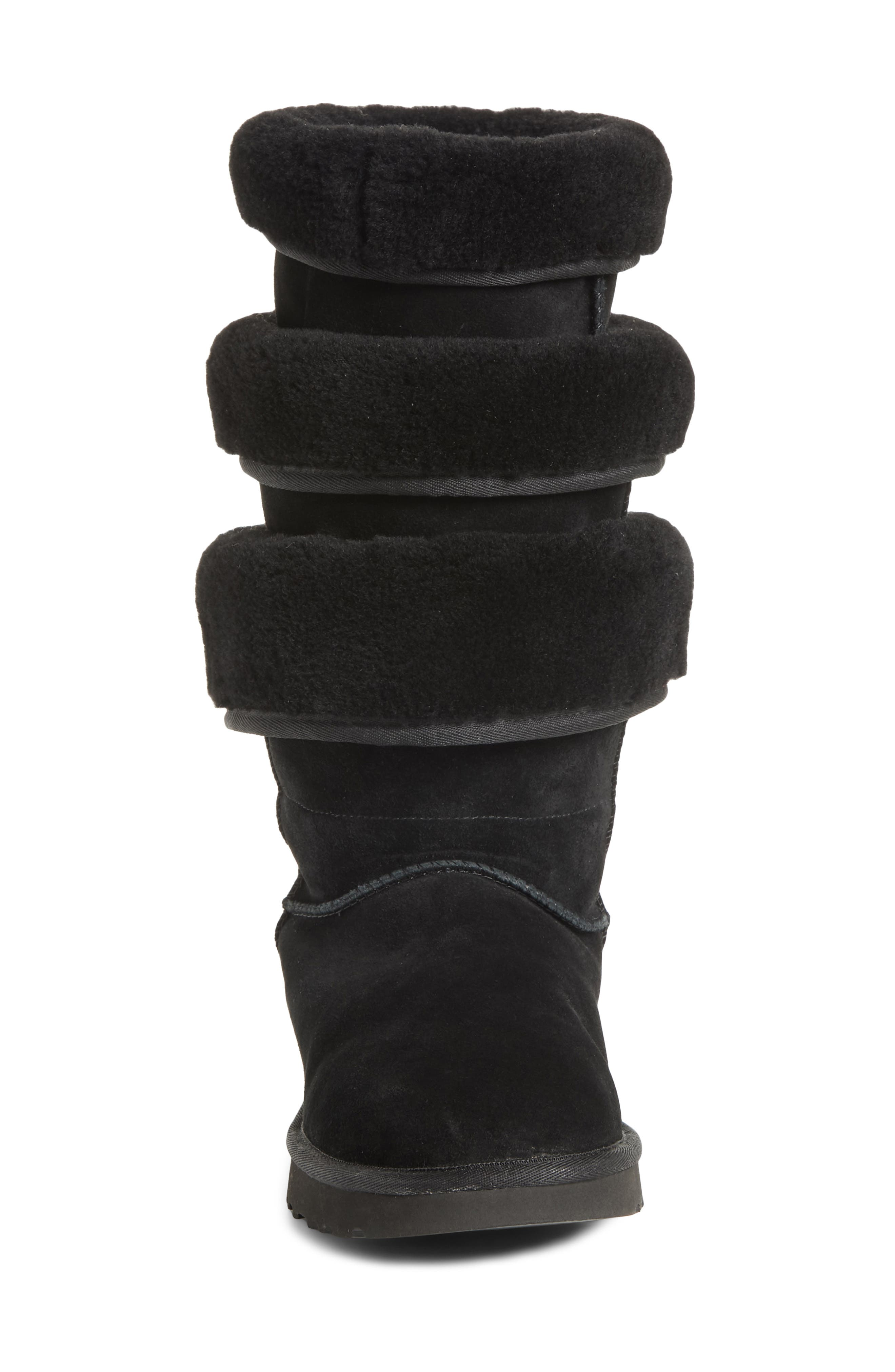 x UGG<sup>®</sup> Layered Boot,                             Alternate thumbnail 4, color,                             NOIR