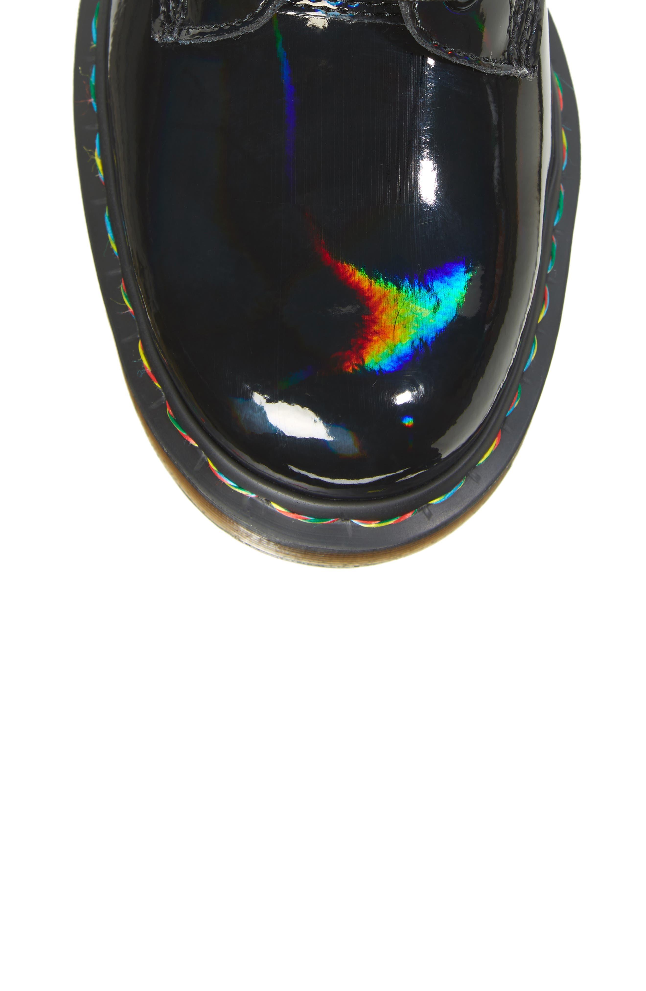 1460 Rainbow Patent Boot,                             Alternate thumbnail 5, color,                             001