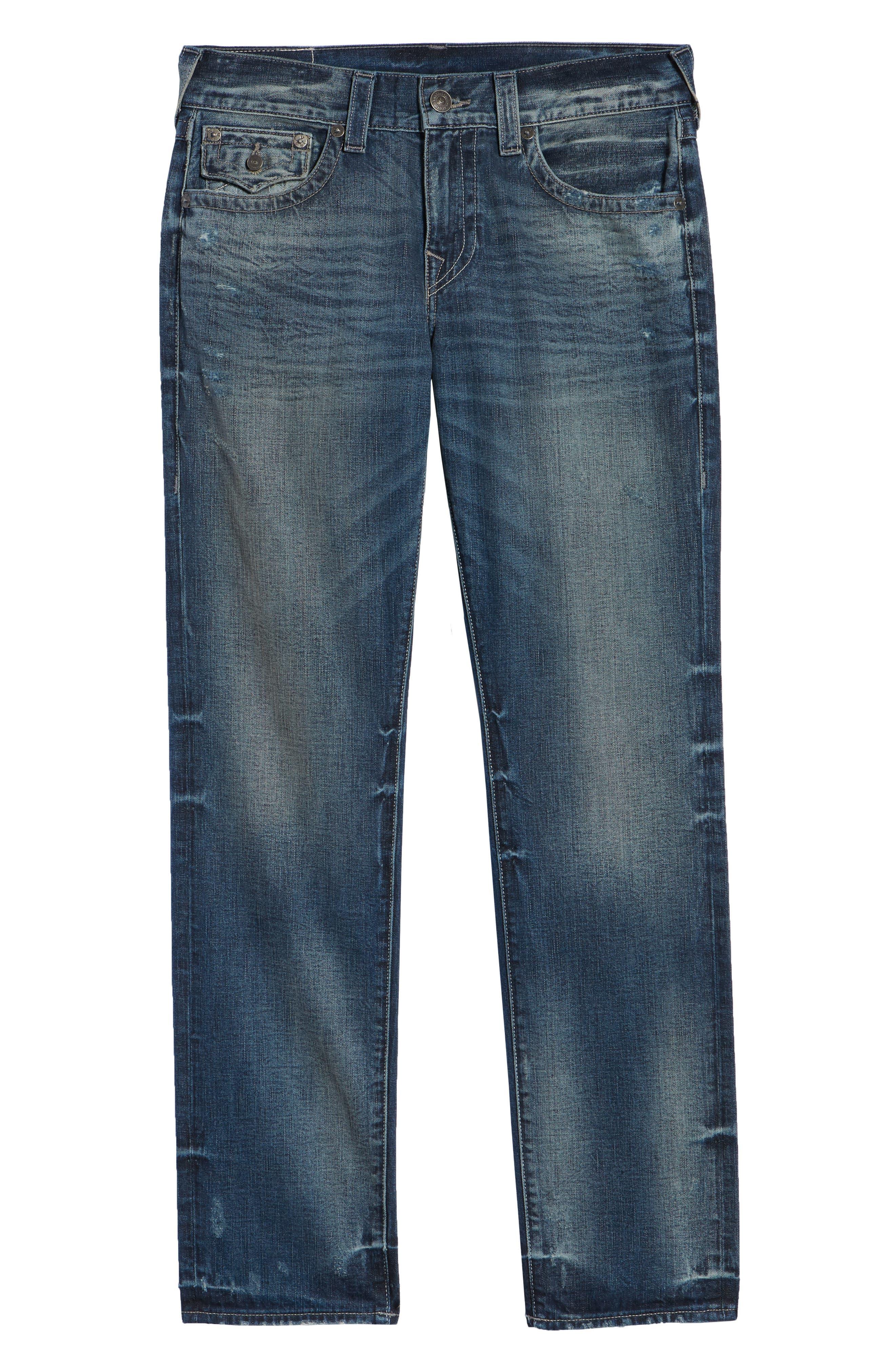 Geno Straight Leg Jeans,                             Alternate thumbnail 6, color,                             COMBAT BLUE