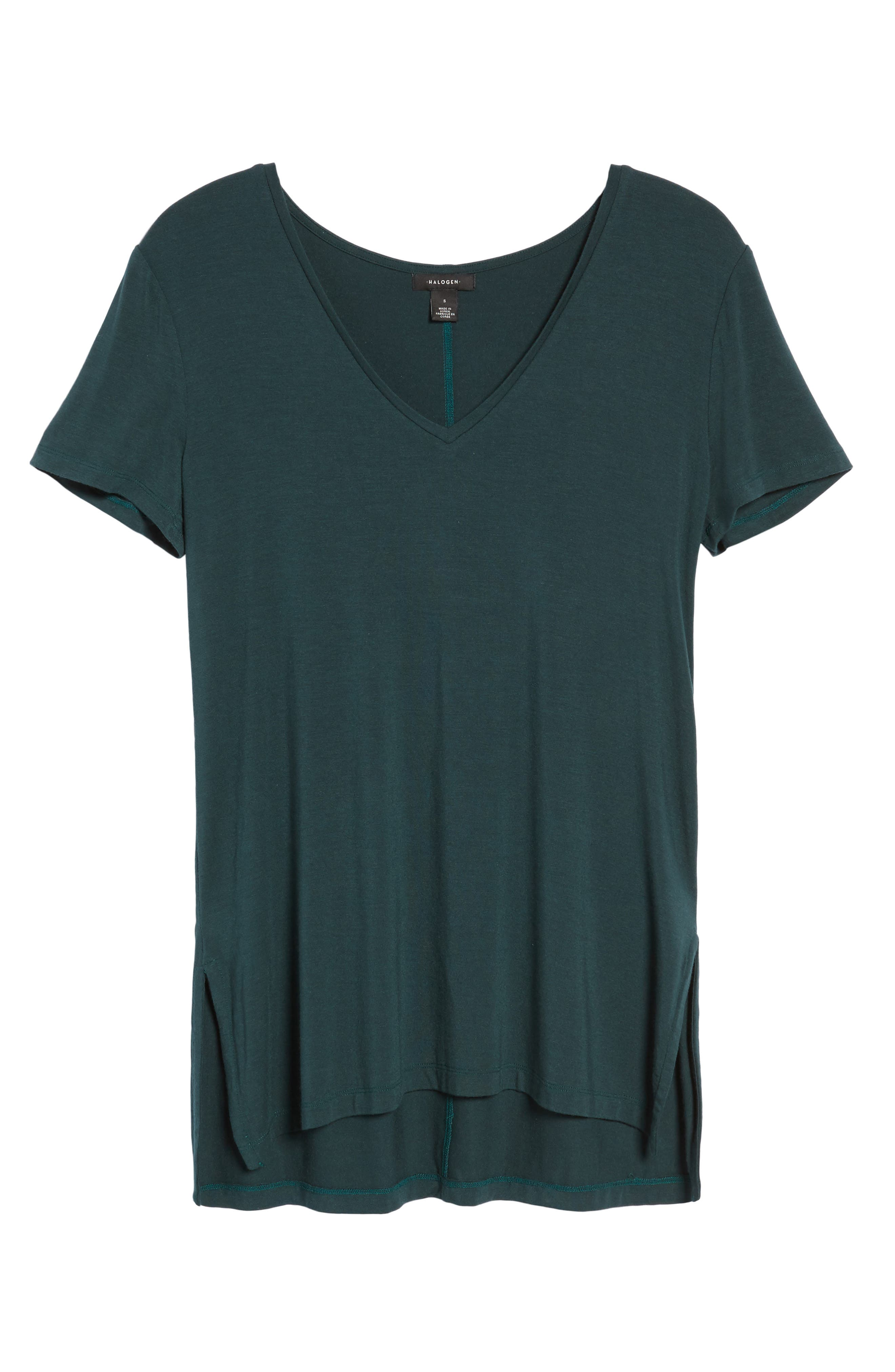 V-Neck Tunic Tee,                             Alternate thumbnail 63, color,
