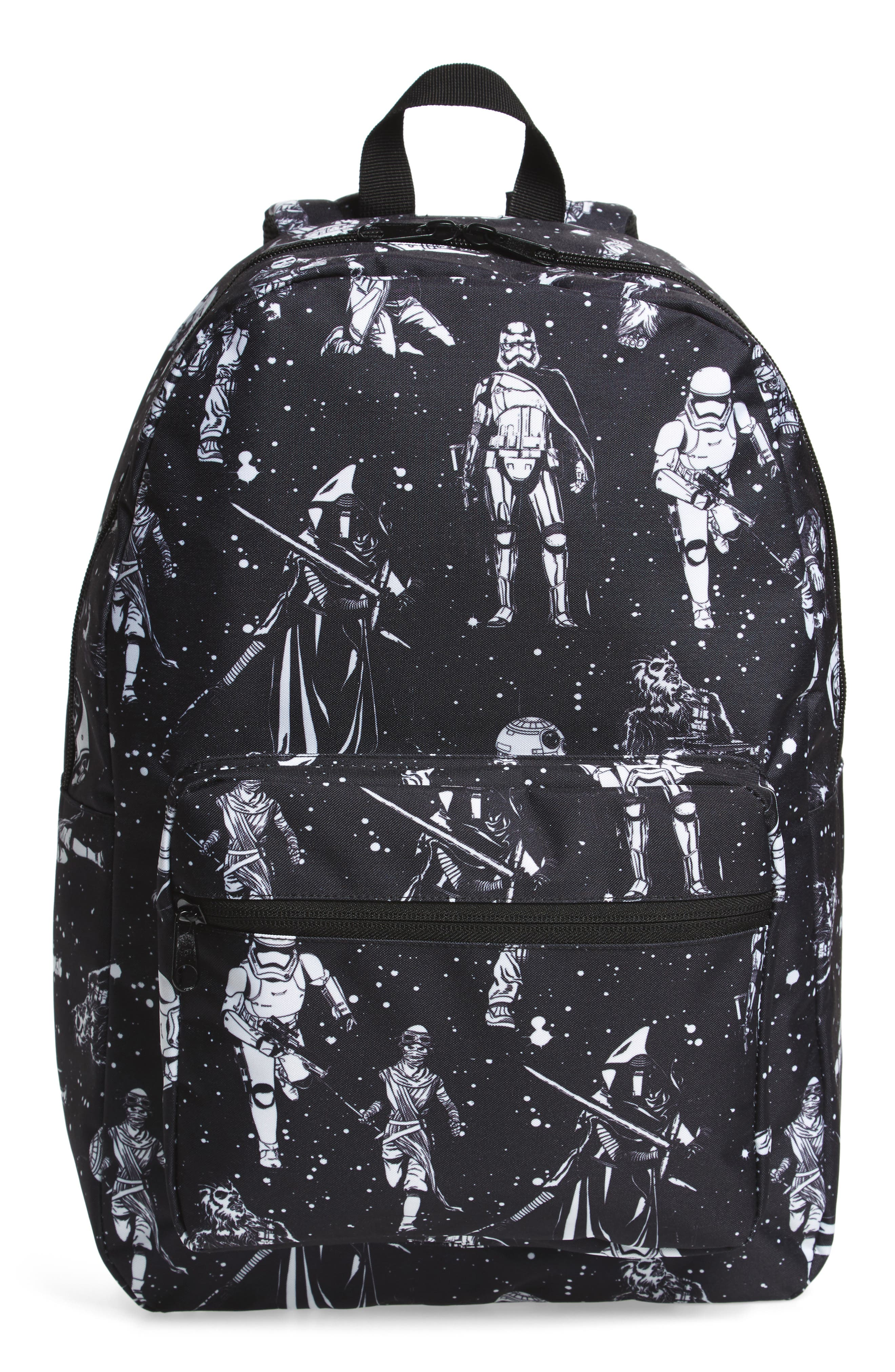 The Force Awakens Black & White Space Backpack,                         Main,                         color, 001