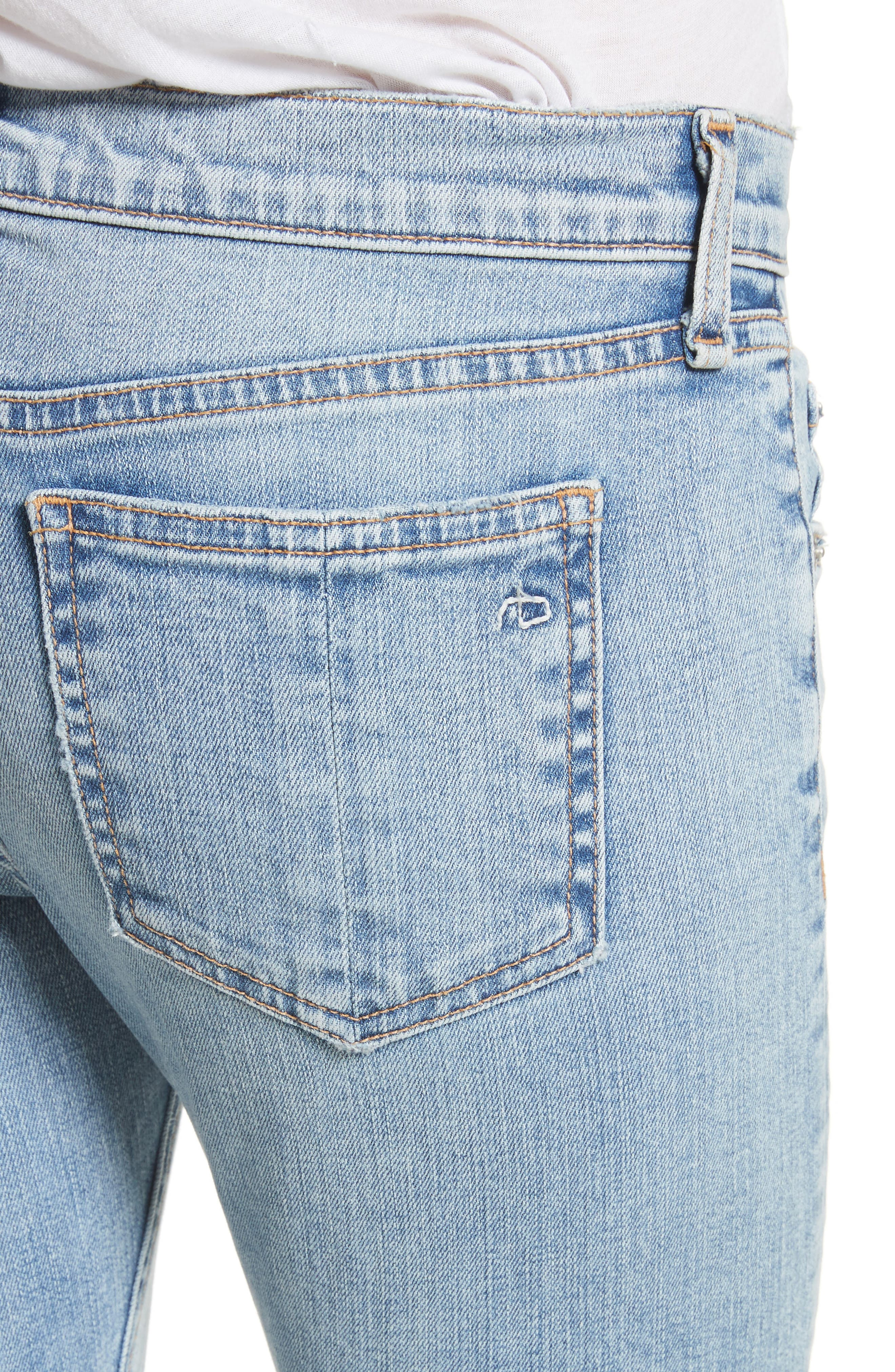 Ankle Skinny Jeans,                             Alternate thumbnail 4, color,                             450