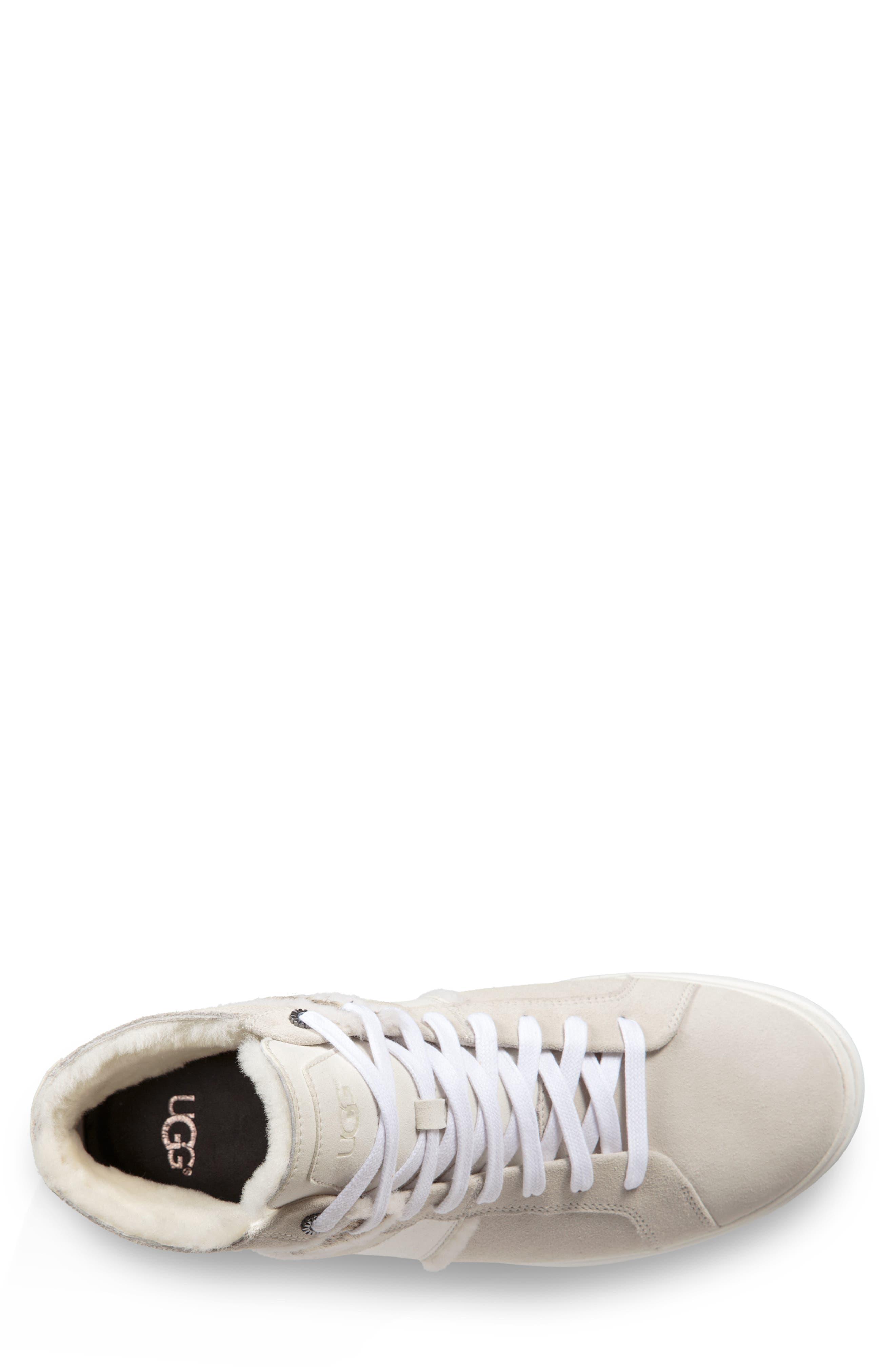 Cali High Top Sneaker,                             Alternate thumbnail 4, color,                             WHITE
