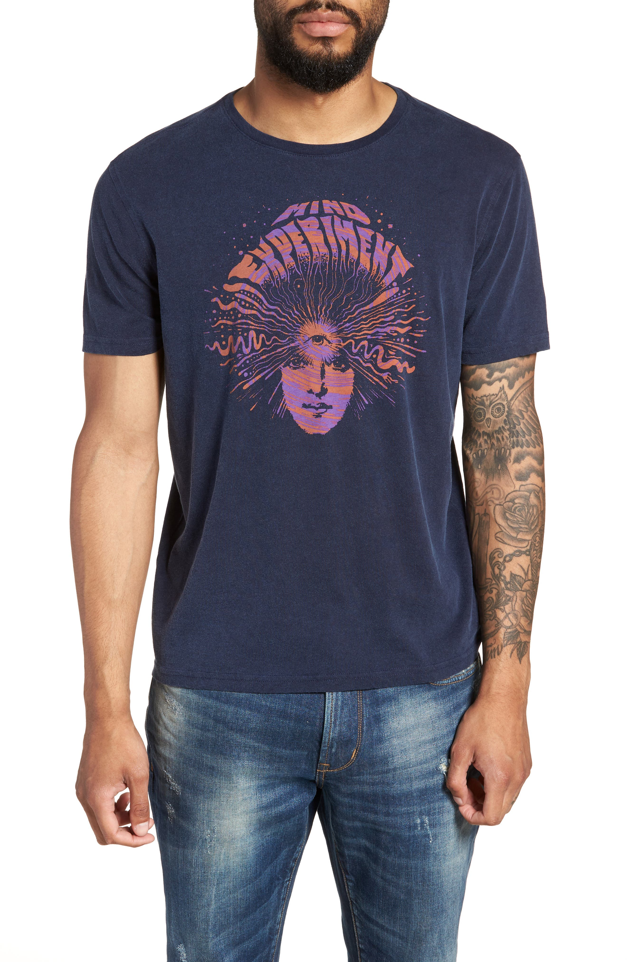 Mind Experiment Graphic T-Shirt,                         Main,                         color, NAVY