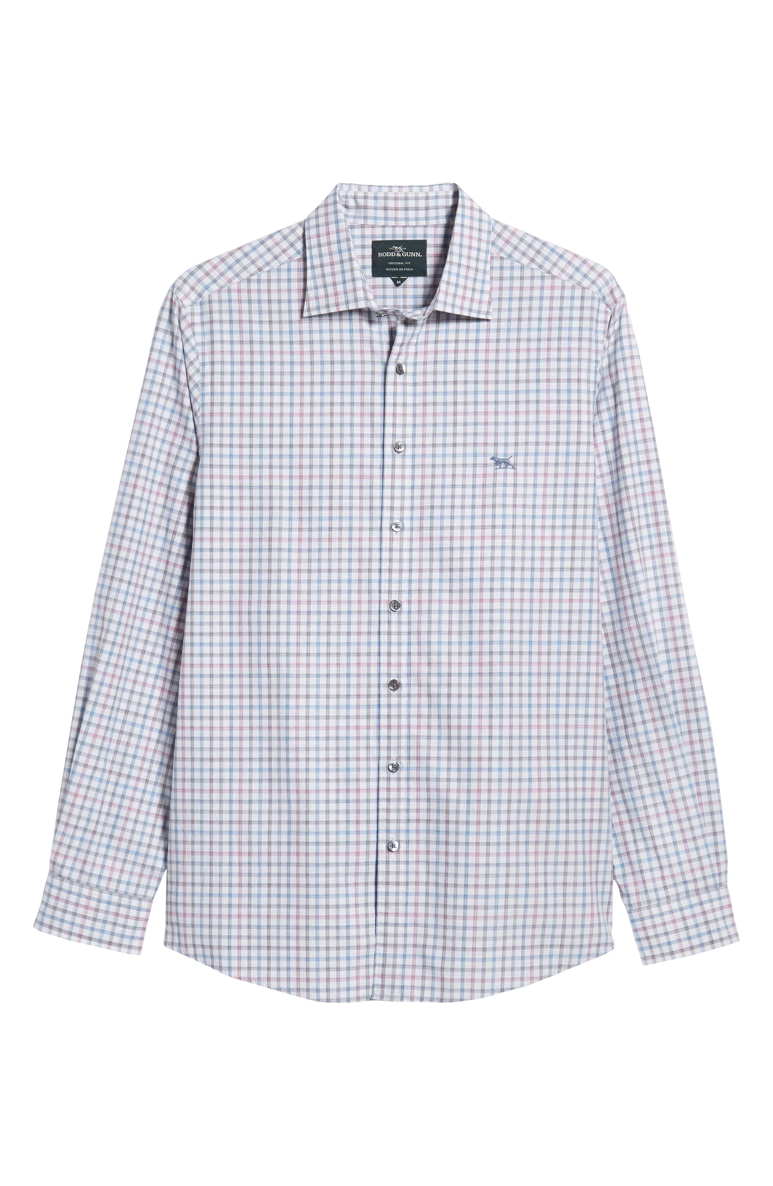 Port Hutt Regular Fit Check Sport Shirt,                             Alternate thumbnail 5, color,                             OYSTER
