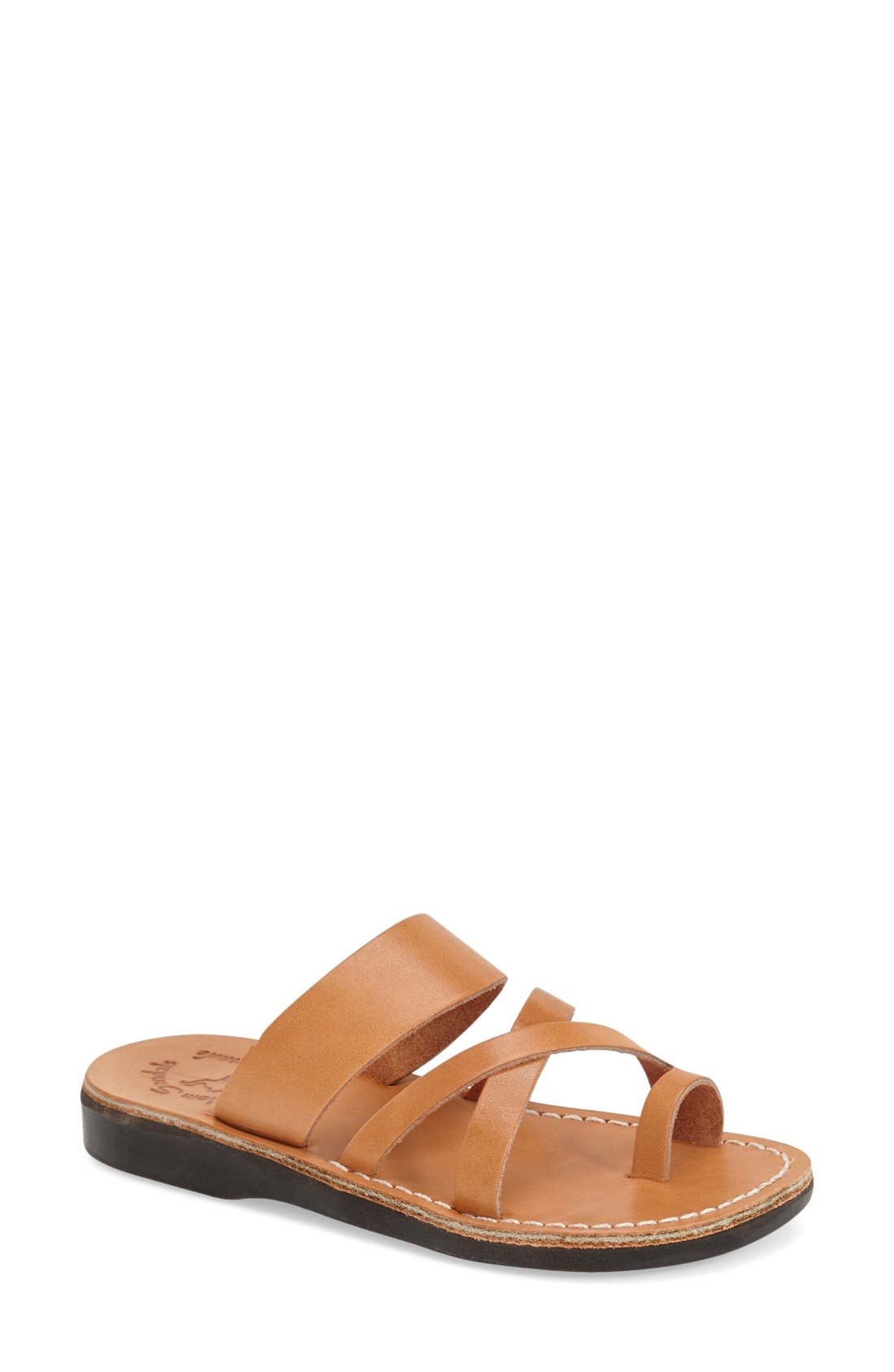 'The Good Shepard' Leather Sandal,                             Main thumbnail 1, color,                             201