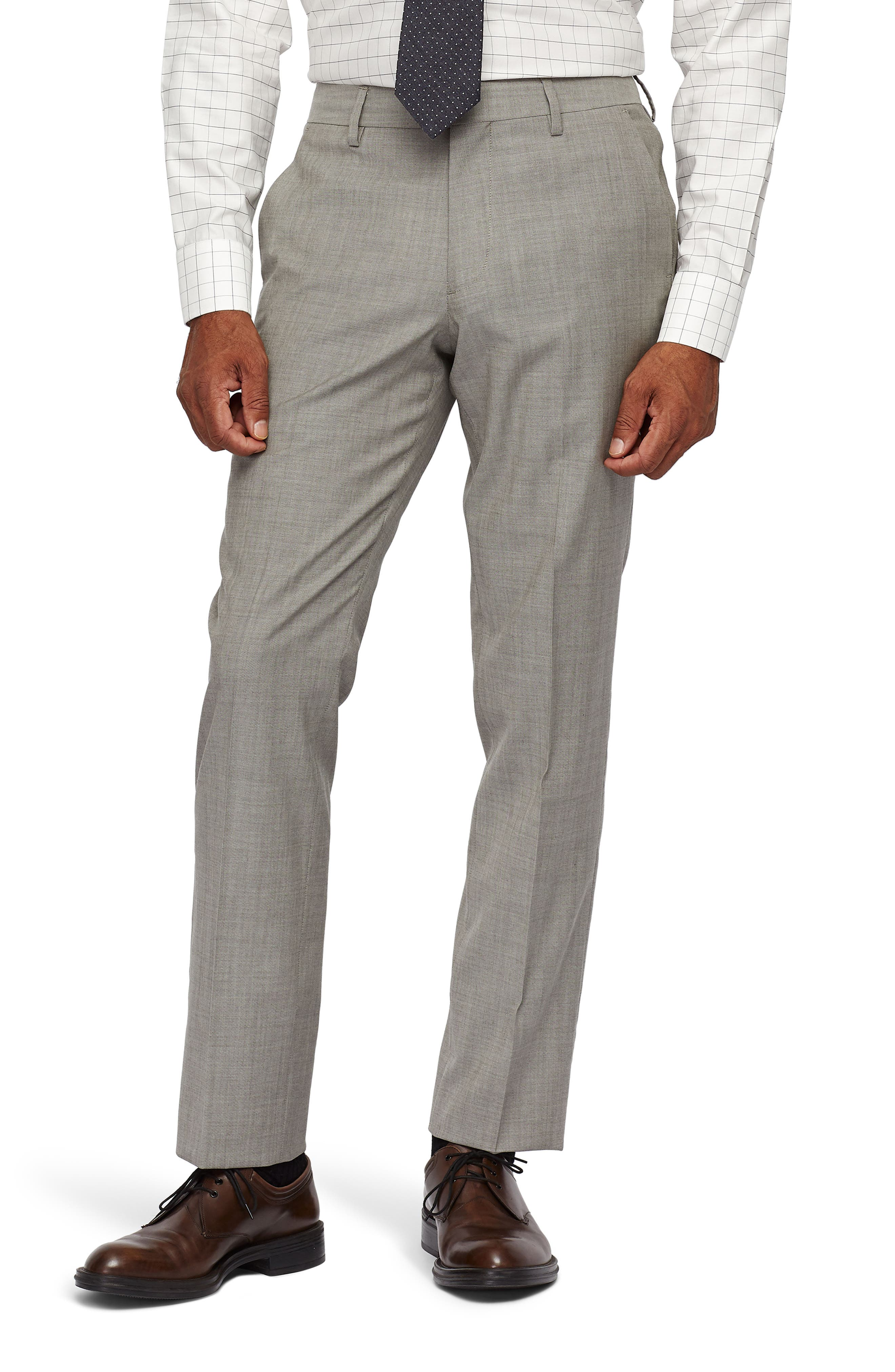 Jetsetter Slim Fit Stretch Suit Pants,                             Main thumbnail 1, color,                             LIGHT BROWN