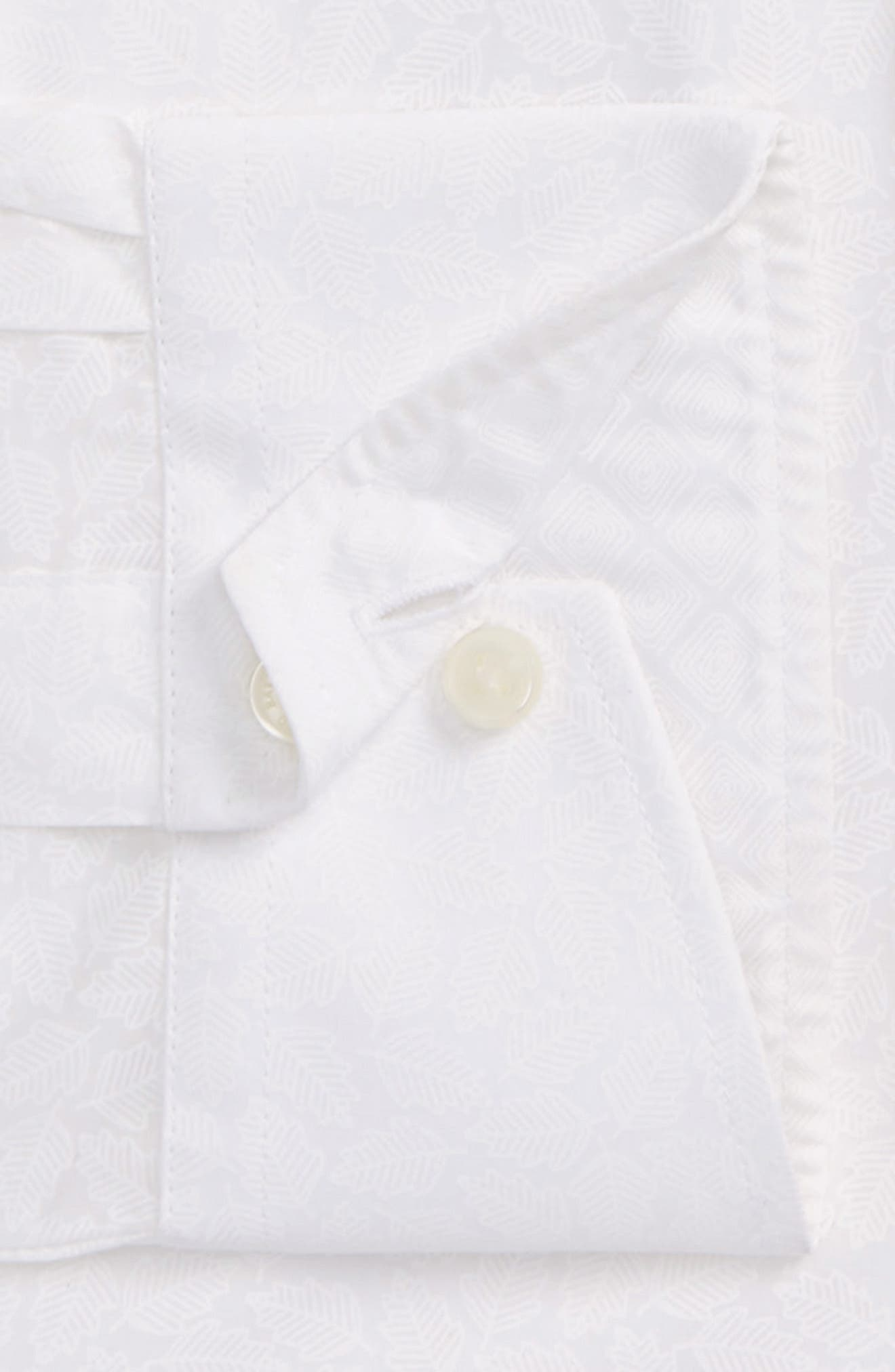 Endurance Trim Fit Print Dress Shirt,                             Alternate thumbnail 3, color,