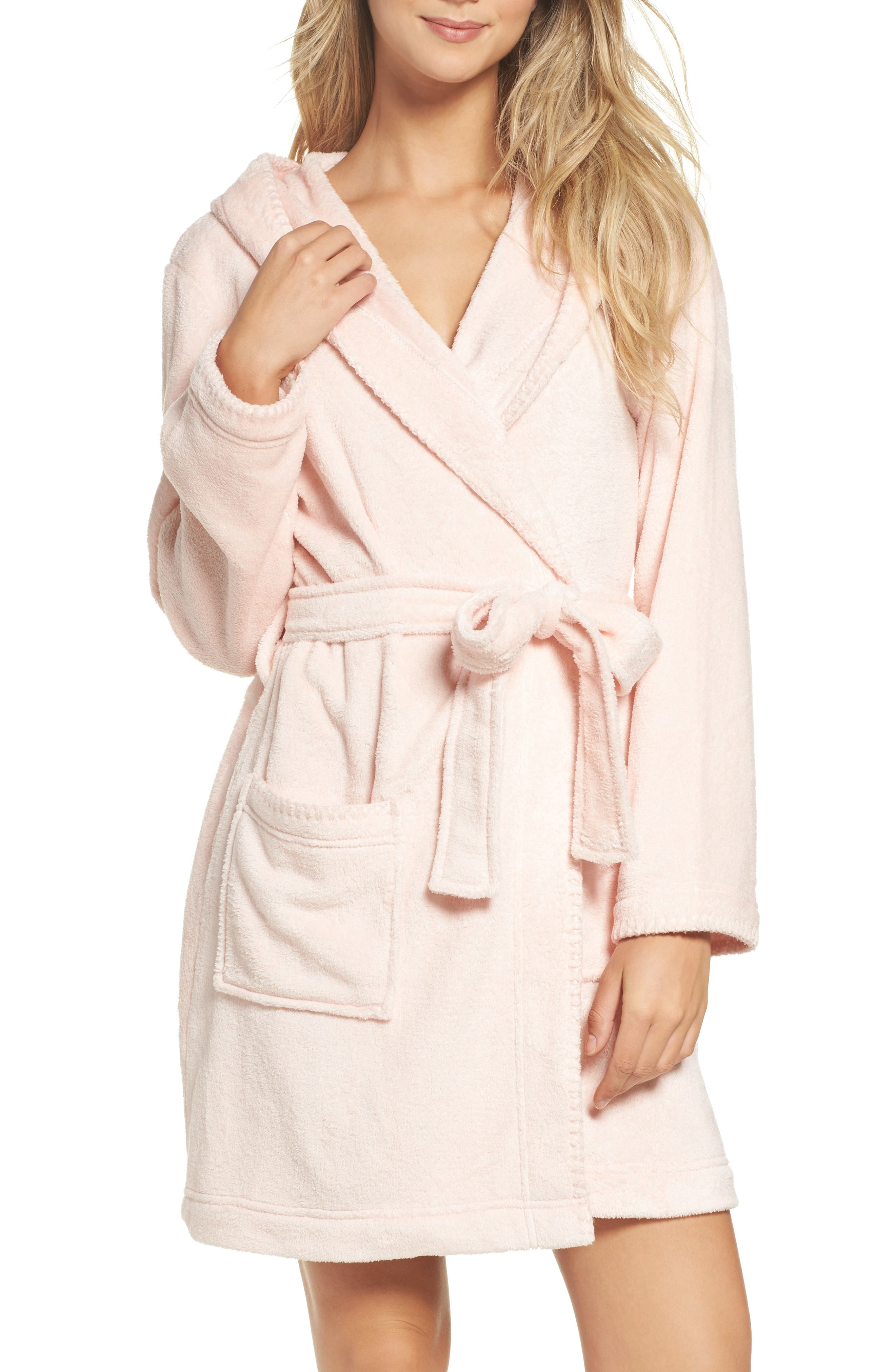Starry Night Plush Short Robe,                             Main thumbnail 3, color,