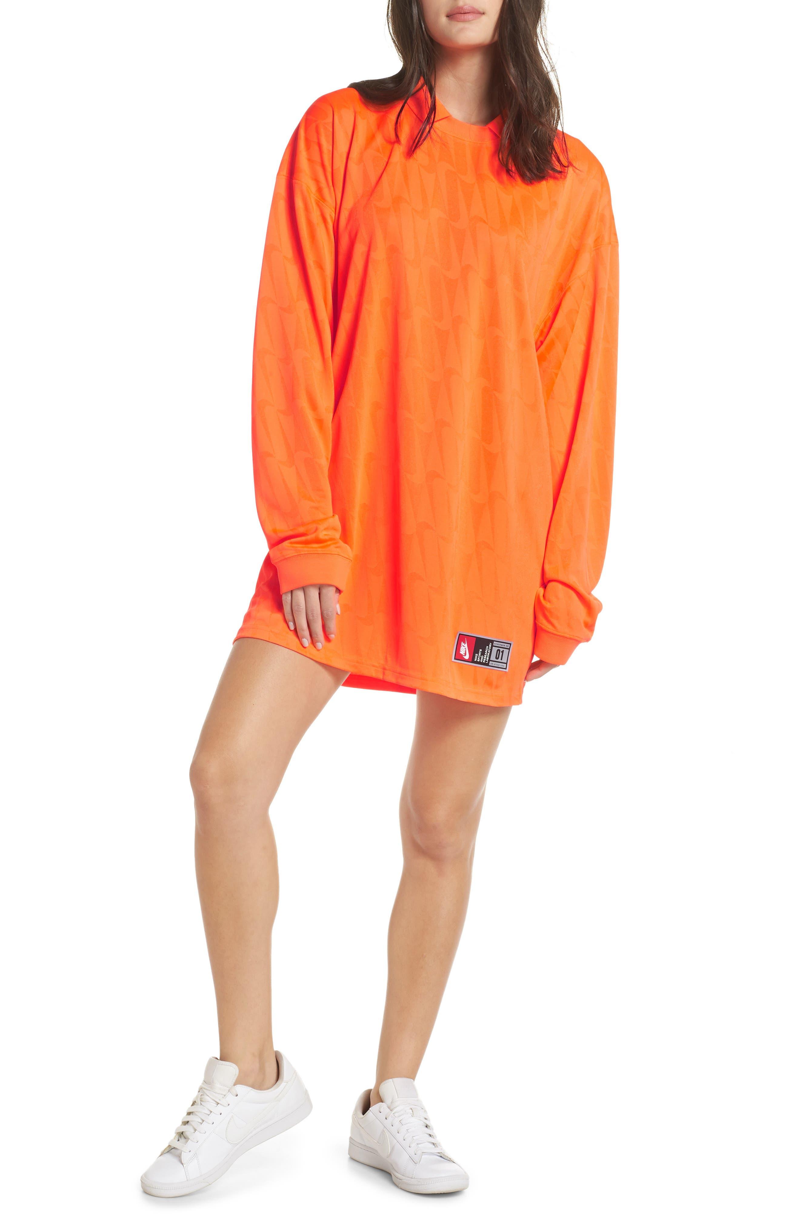 NRG Jersey Dress,                         Main,                         color, HYPER CRIMSON