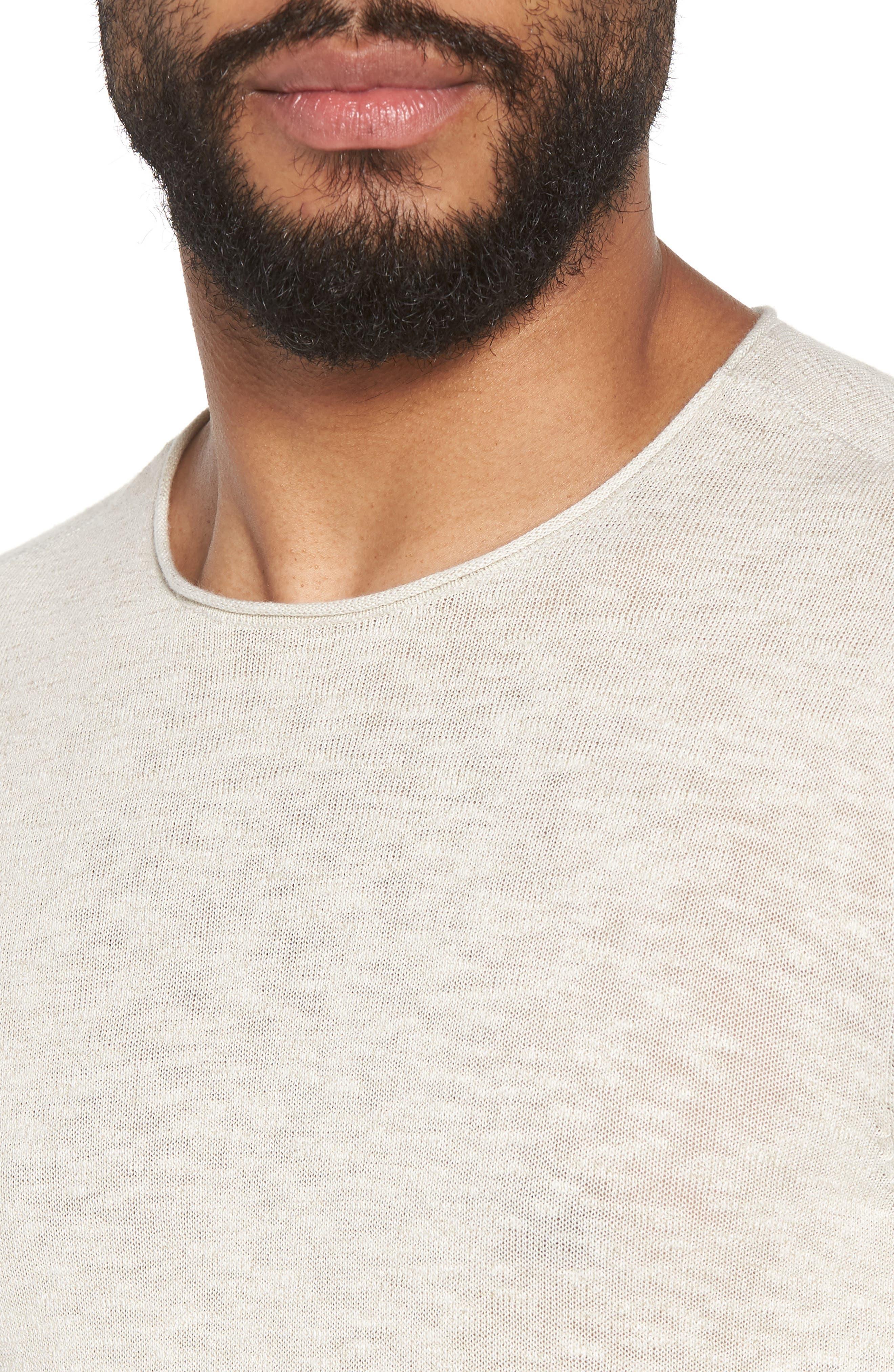 Slim Fit Cotton Blend Sweater,                             Alternate thumbnail 4, color,                             072