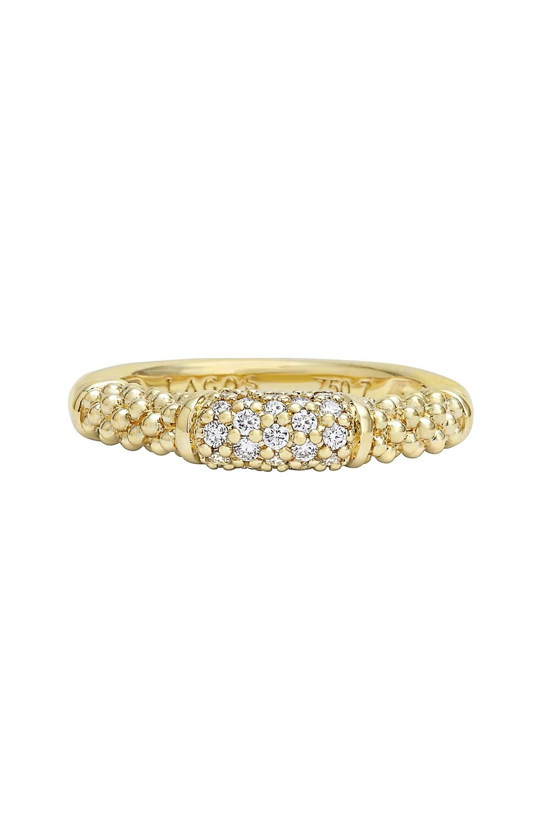 Caviar Diamond Ring,                             Alternate thumbnail 9, color,                             GOLD