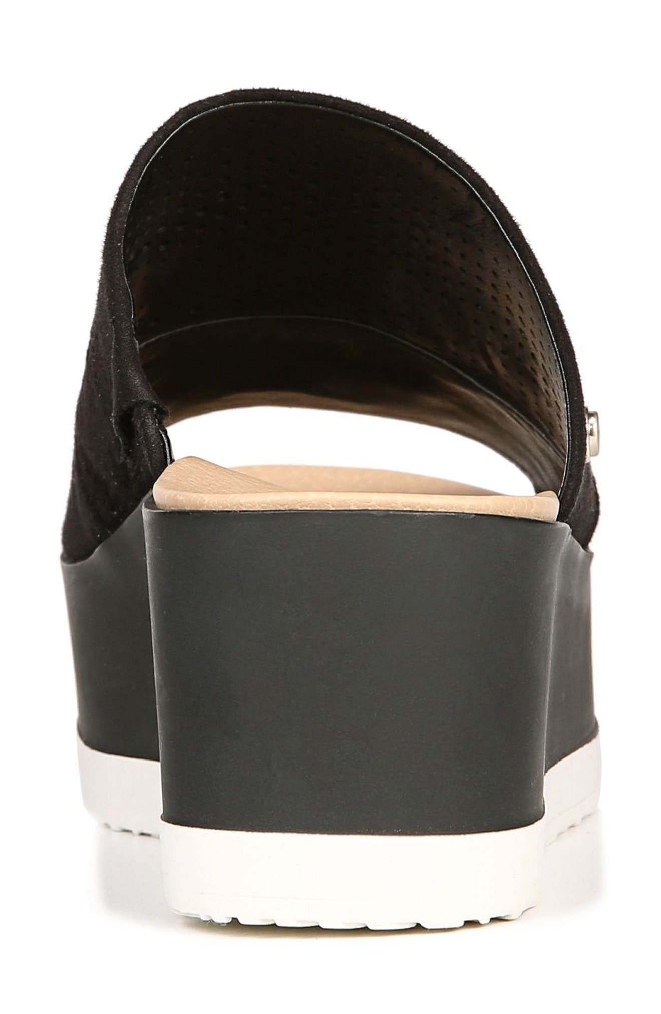 Collins Platform Sandal,                             Alternate thumbnail 7, color,                             BLACK FABRIC