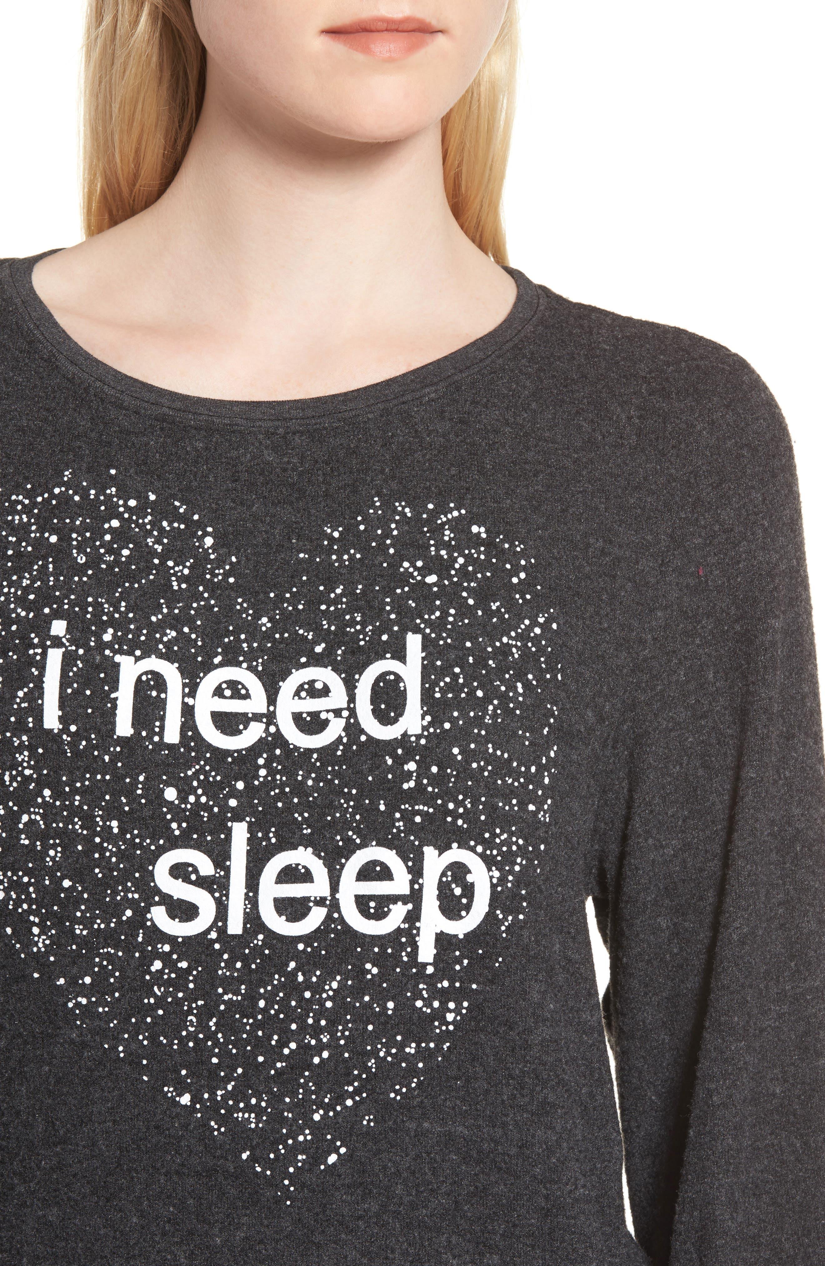I Need Sleep Sweatshirt,                             Alternate thumbnail 4, color,                             002