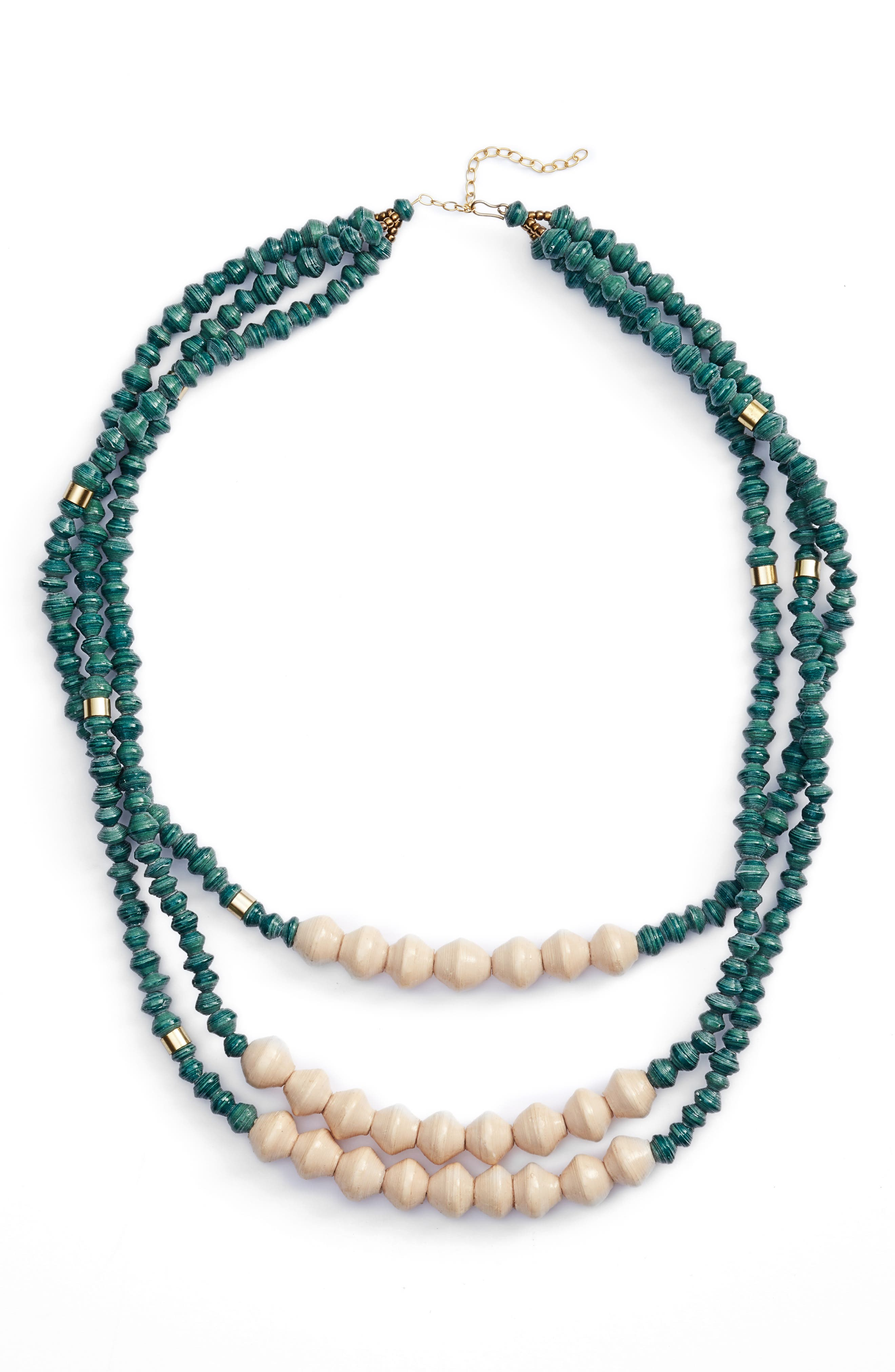 Emery Paper Bead Necklace,                         Main,                         color, 300