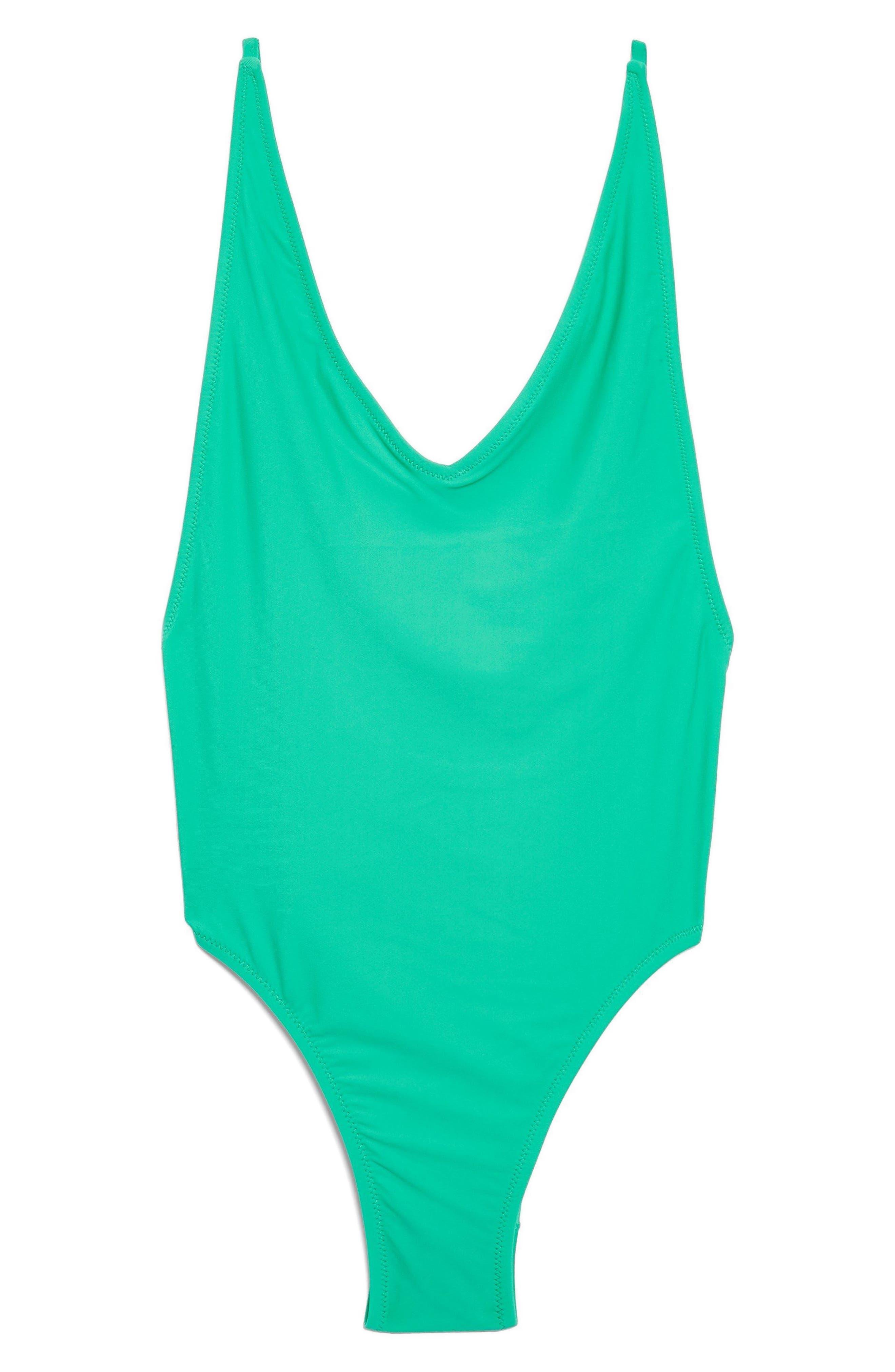 Pamela One-Piece Swimsuit,                             Alternate thumbnail 4, color,                             TEAL