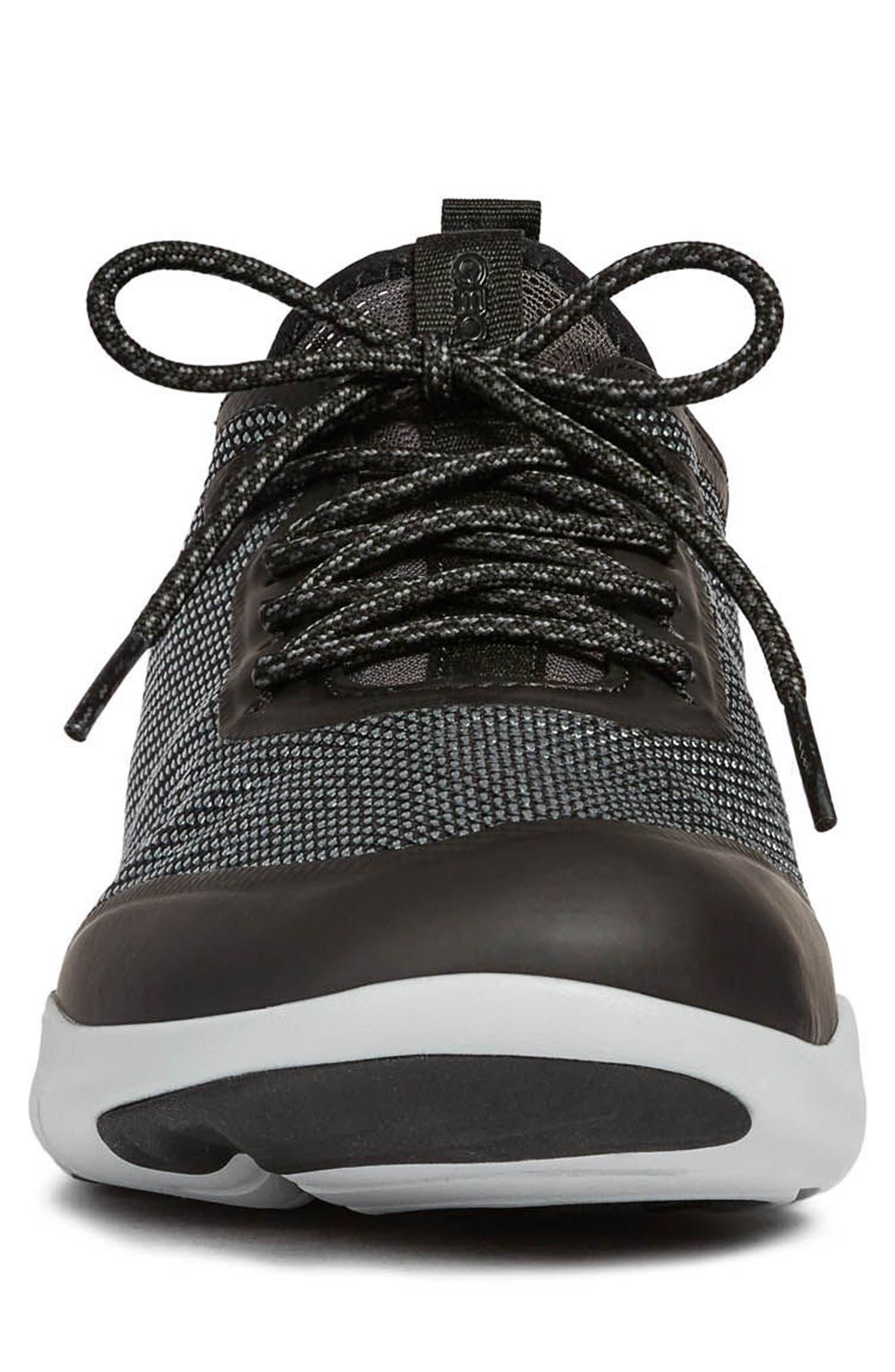Nebula X 3 Low Top Sneaker,                             Alternate thumbnail 4, color,                             BLACK LEATHER