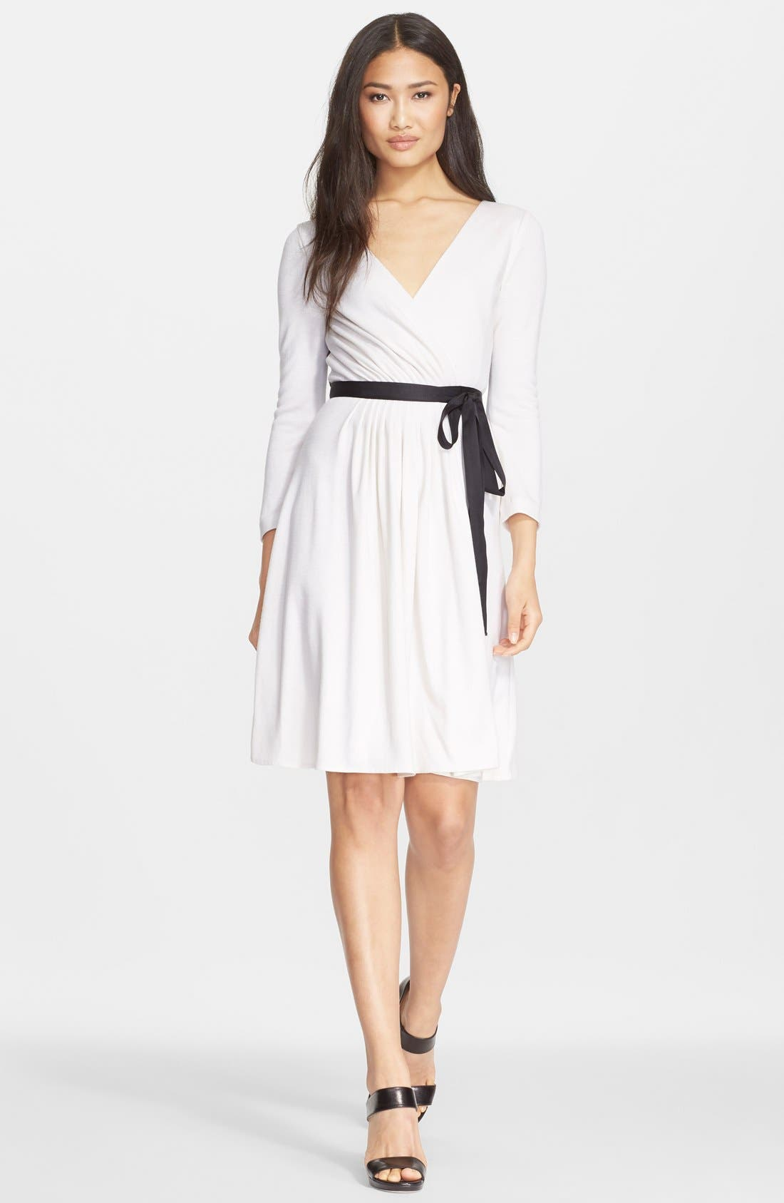 'Seduction' Wool Wrap Dress,                             Main thumbnail 1, color,                             120