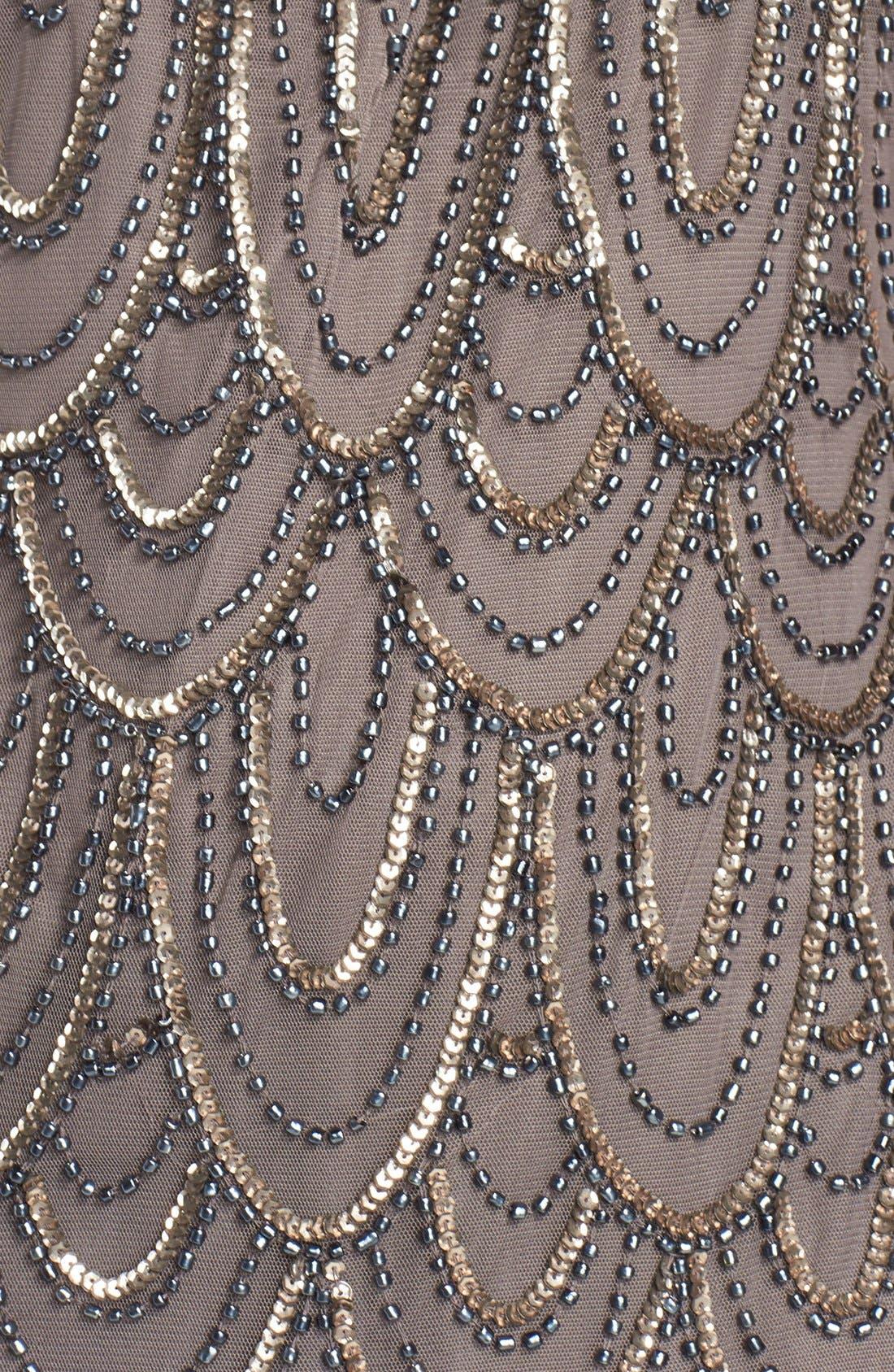 Embellished Mesh Sheath Dress,                             Alternate thumbnail 50, color,