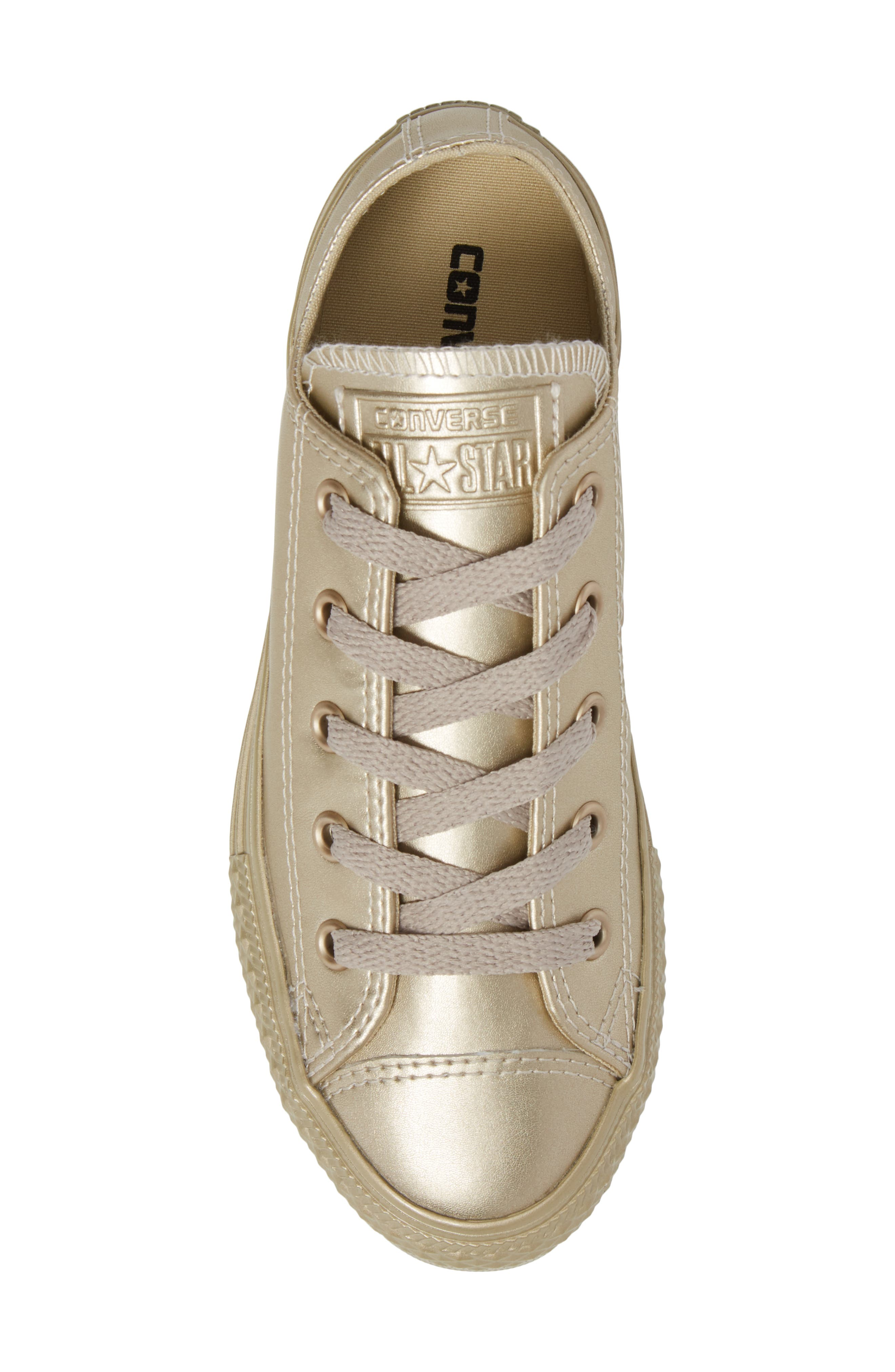 Chuck Taylor<sup>®</sup> All Star<sup>®</sup> Mono Metallic Low Top Sneaker,                             Alternate thumbnail 5, color,                             710