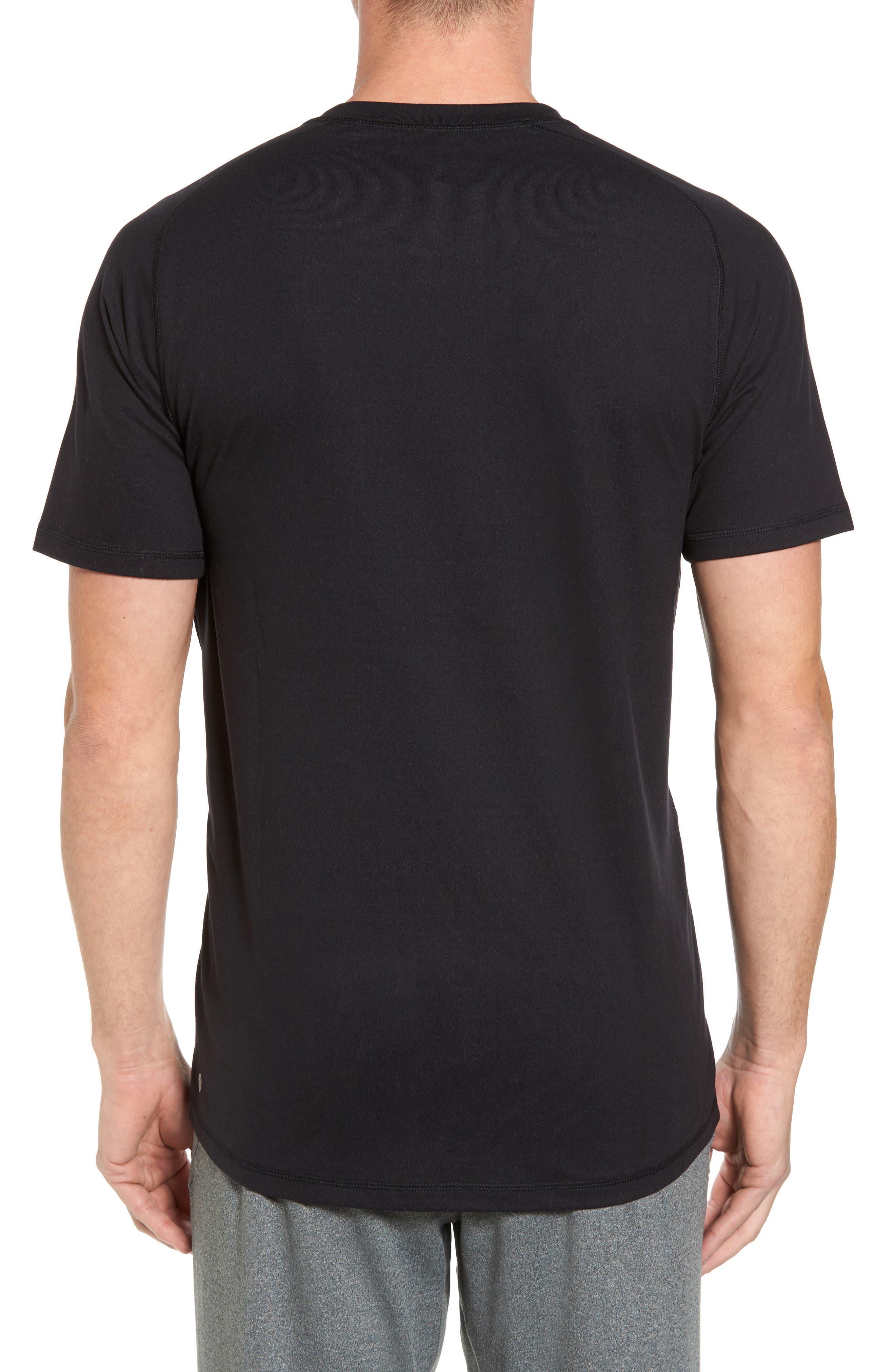 Longline Crewneck T-Shirt,                             Alternate thumbnail 2, color,                             001