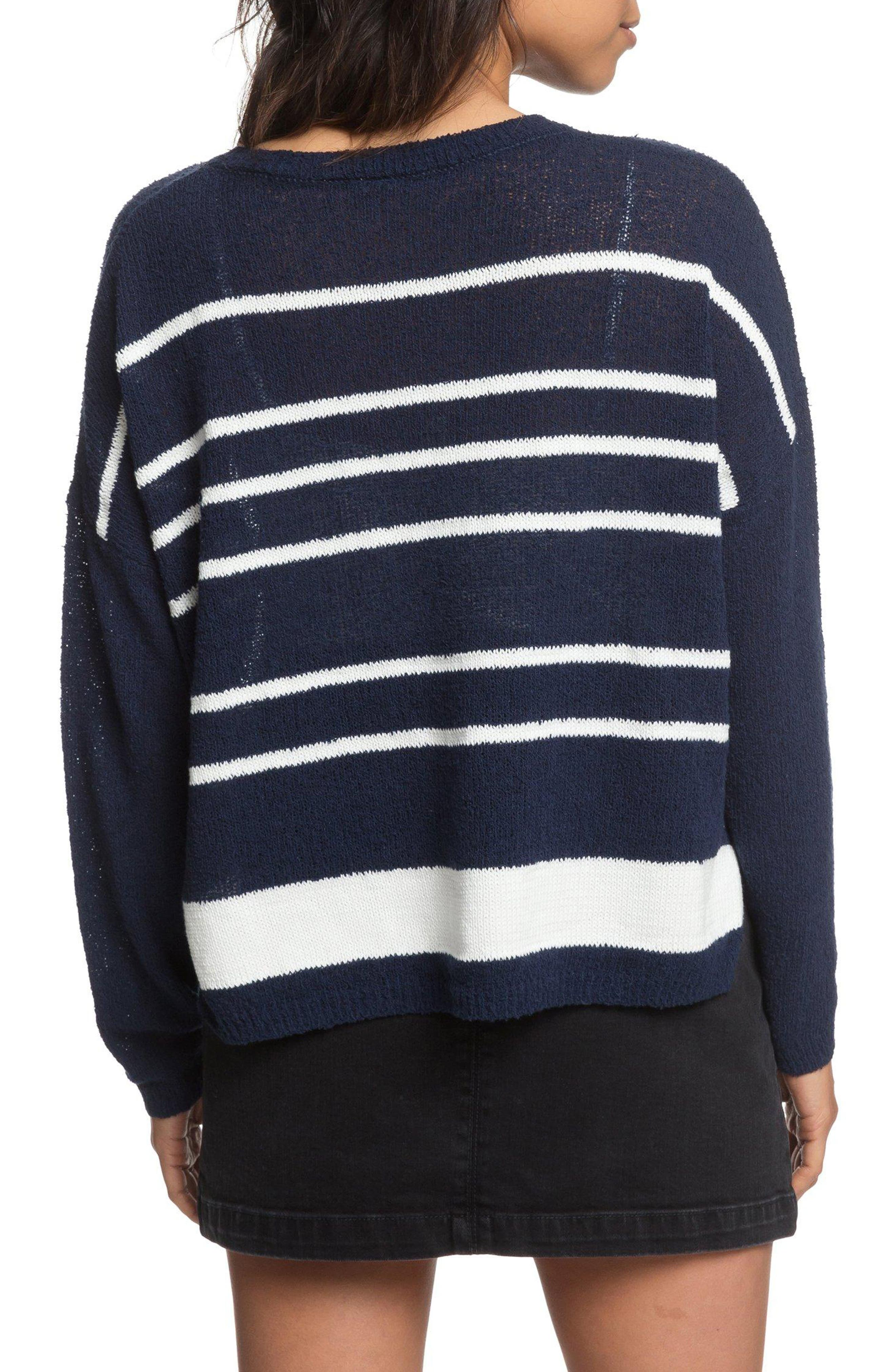 Variegated Stripe Boxy Sweater,                             Alternate thumbnail 2, color,                             400